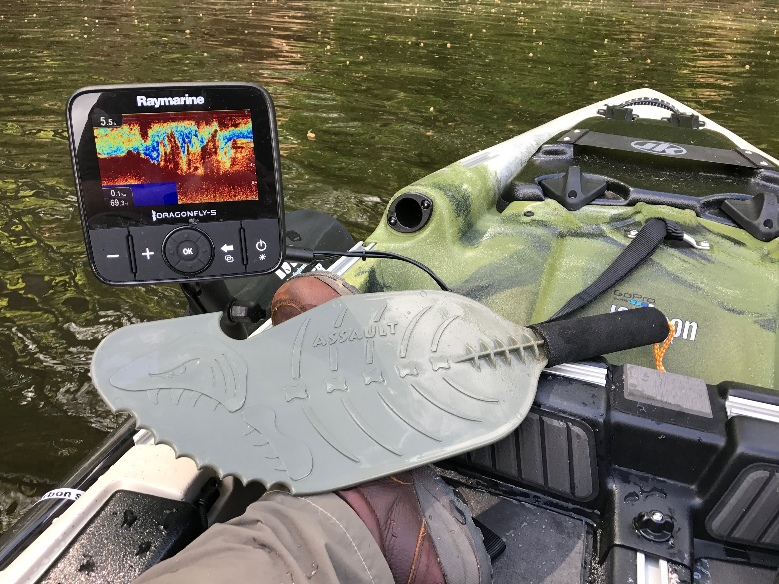 A hand paddle is an essential piece of kit for the kayak angler