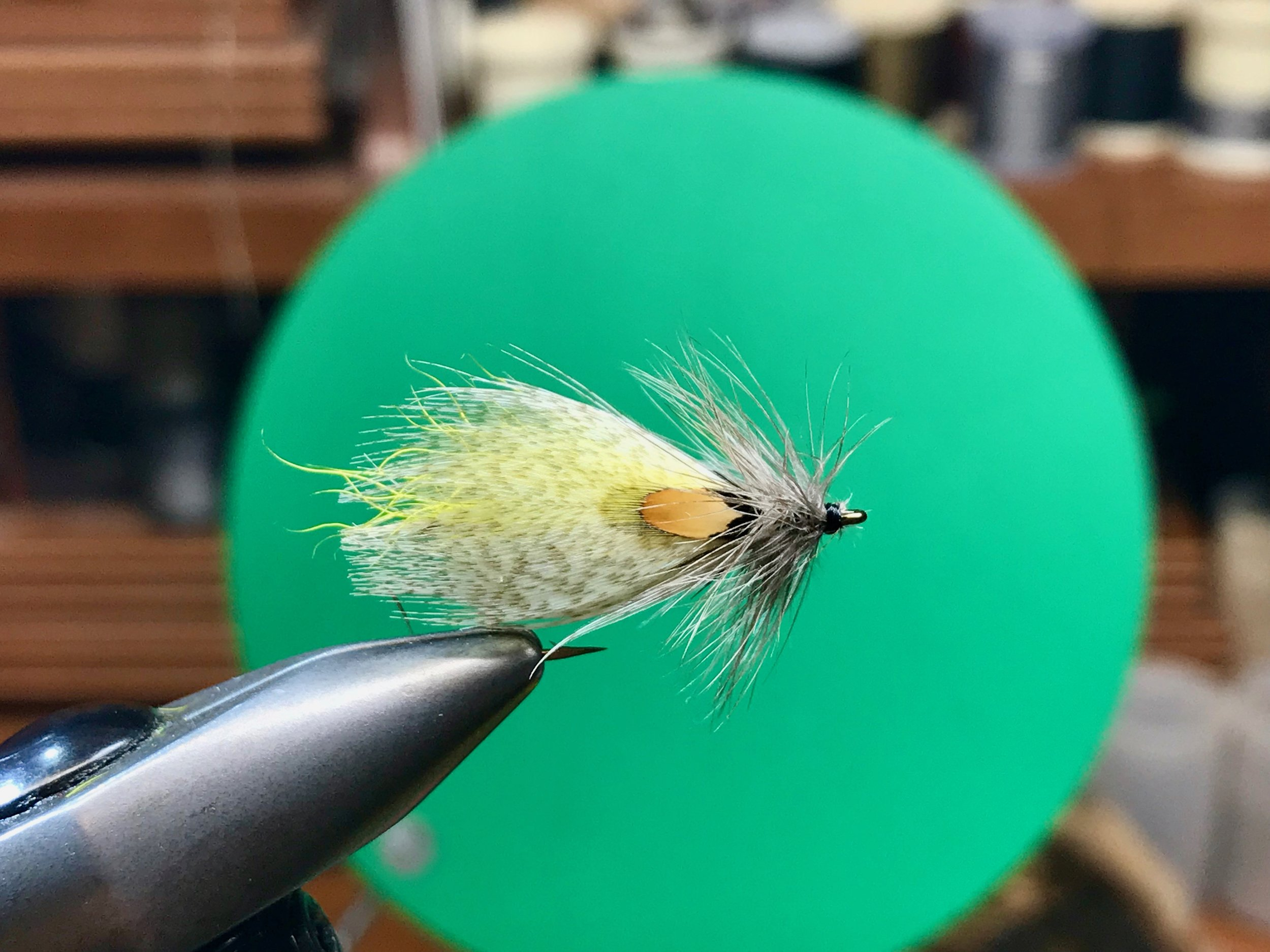 Hornberg Special tied with calf tail wing and soft hen hackle.