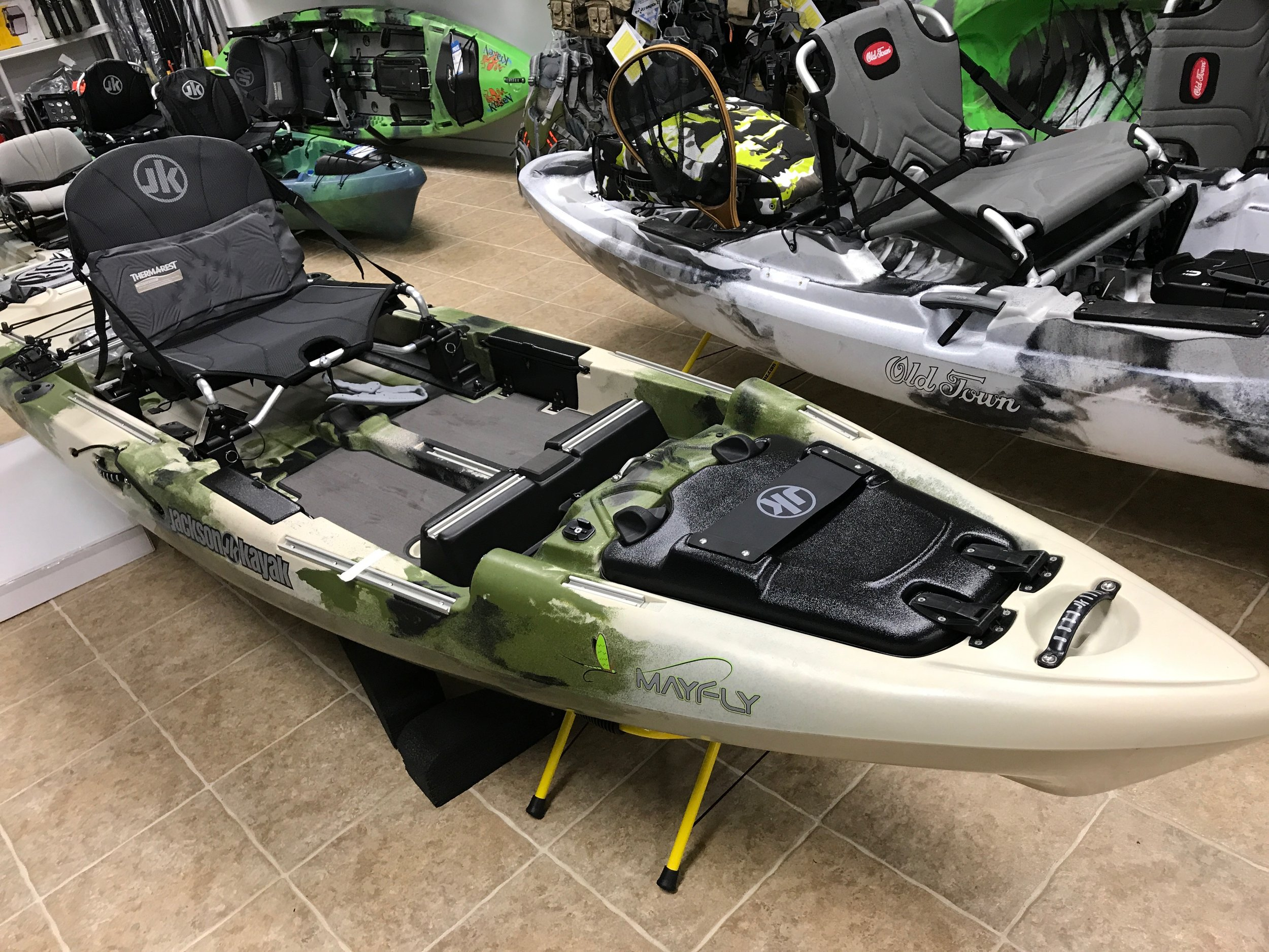 The is no shortage of storage space on the Jackson Mayfly.