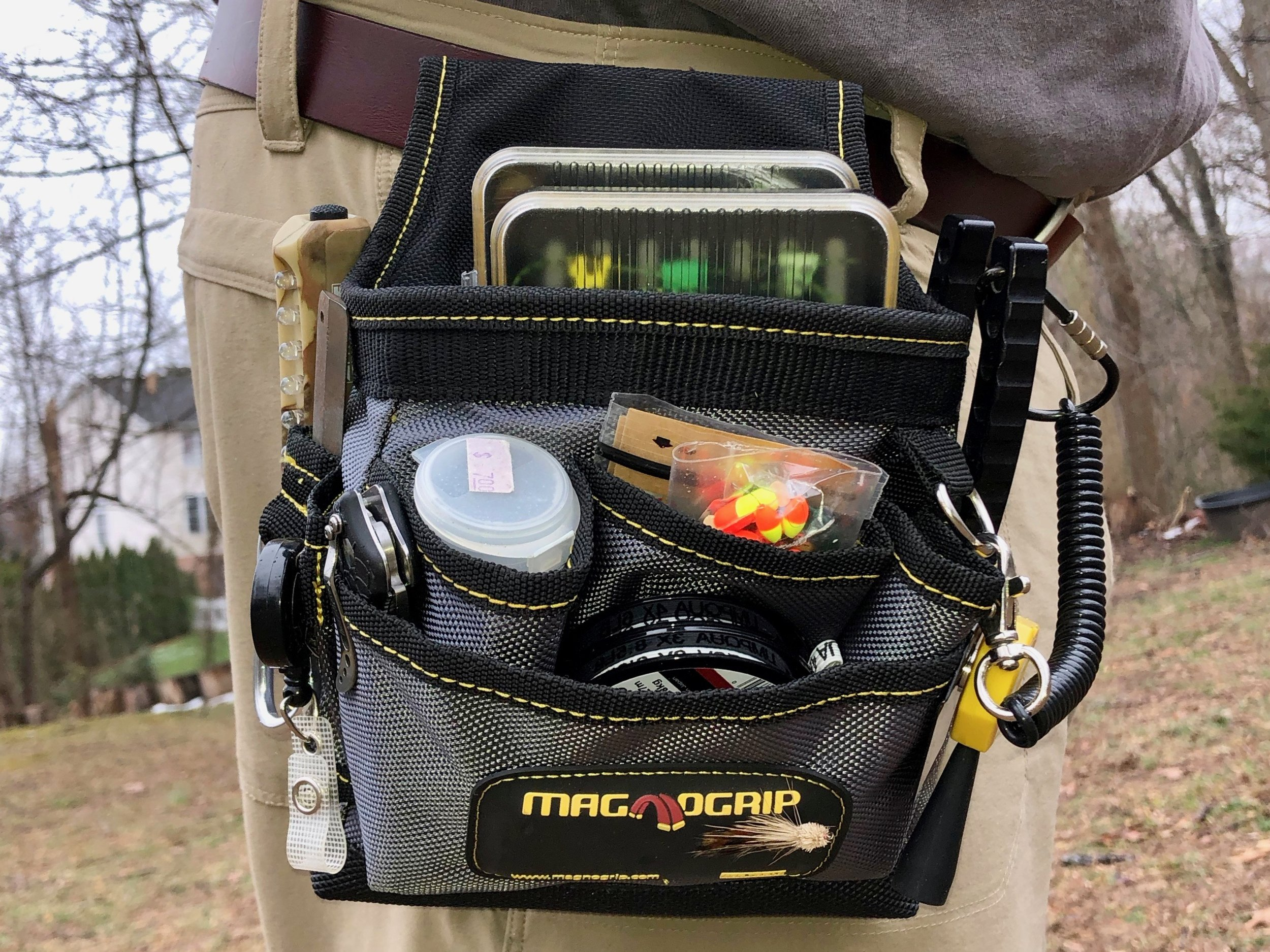 This inexpensive tool pouch makes a great organizer for fly fishing gear!