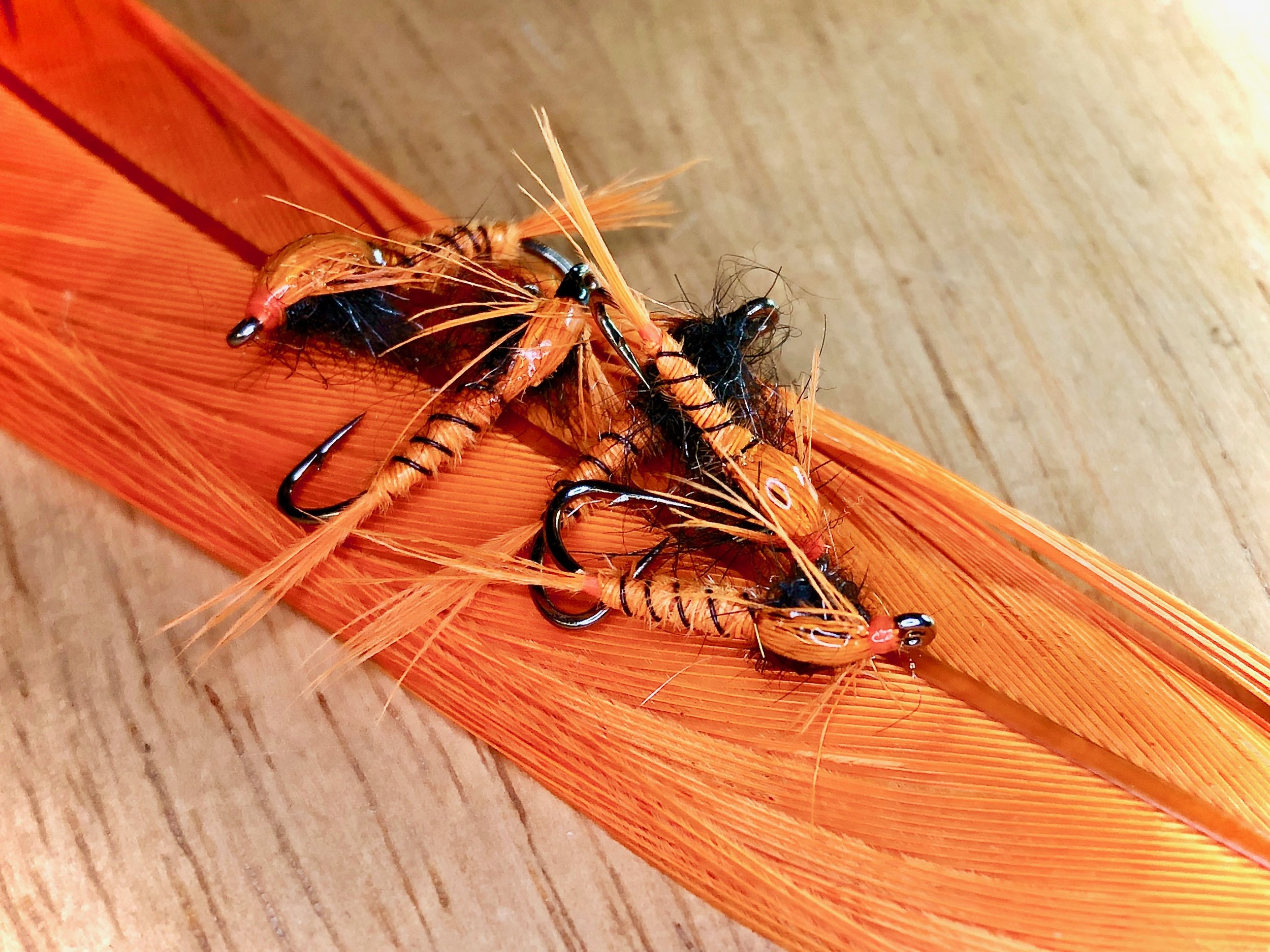By changing thread color you can clearly identify which flies are weighted and which flies are not with out changing the overall apperance of the fly.