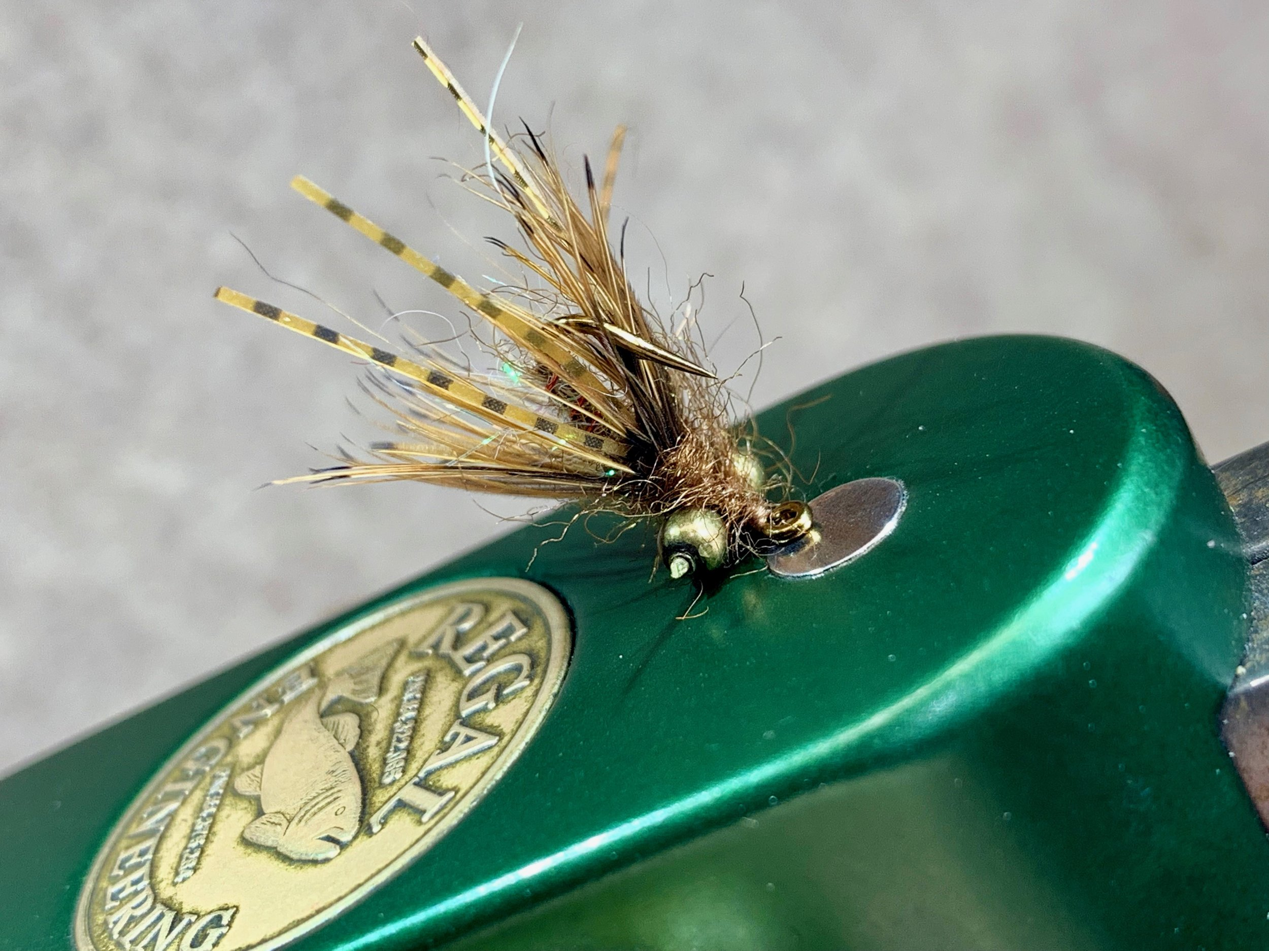 A pint sized Carp Nasty is a great fly for bluegill and other panfish!