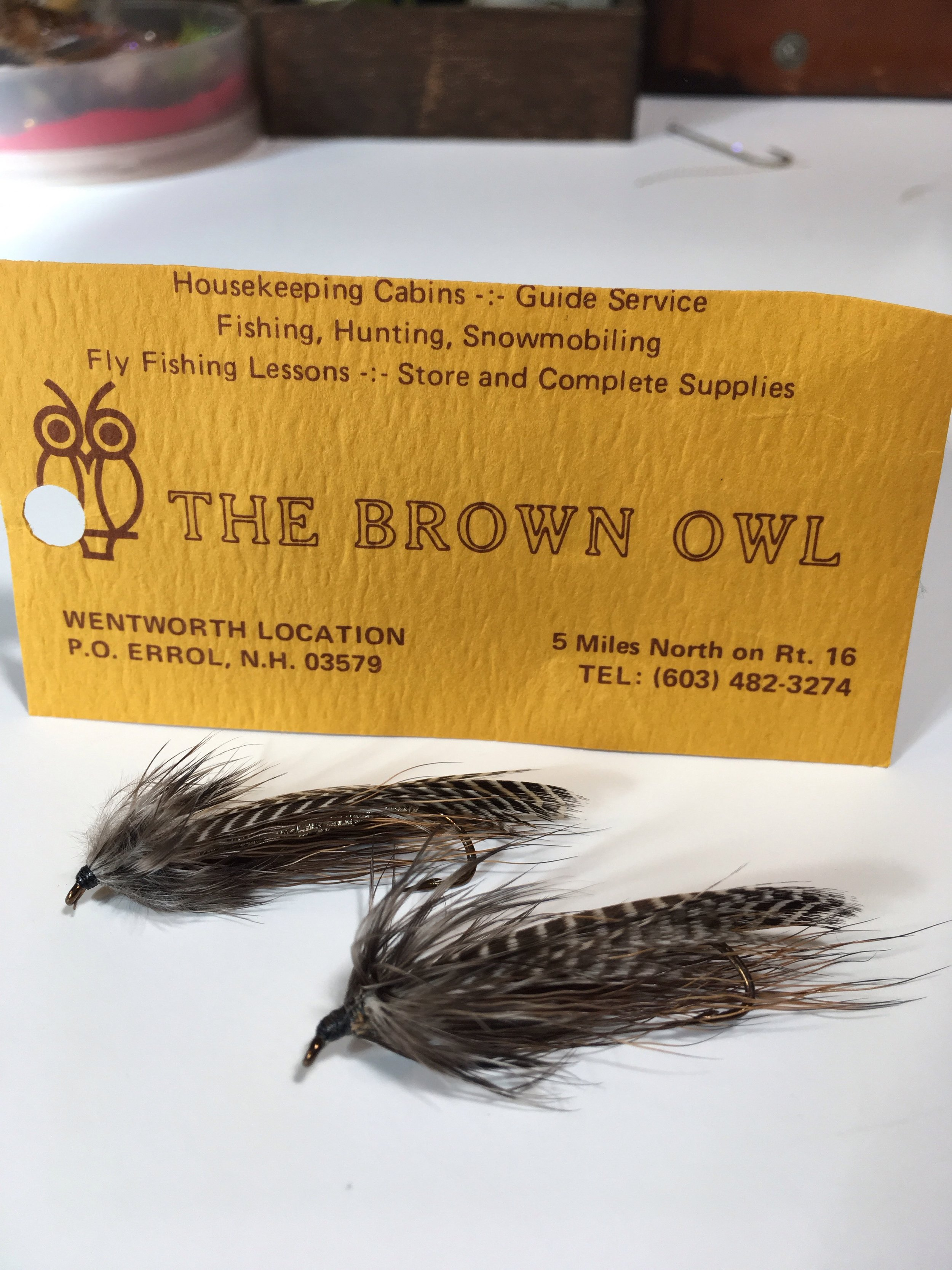 The original Brown Owl, courtesy of John McConochie. This style of streamer does very well on the New England waters that I fish for trout and landlocked salmon.