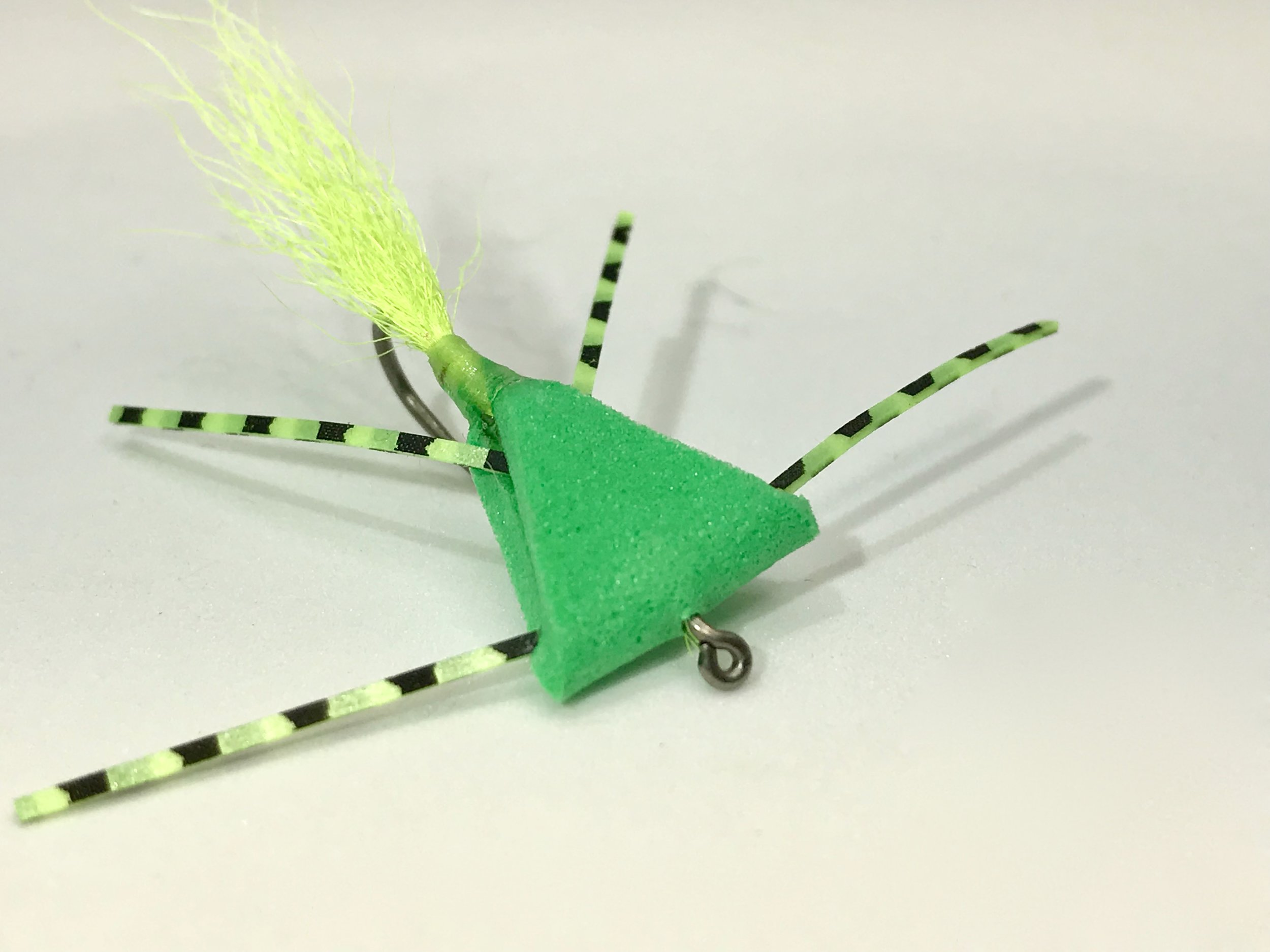 The Triangle Bug in my favorite color combination Bright Green/Chartreuse.
