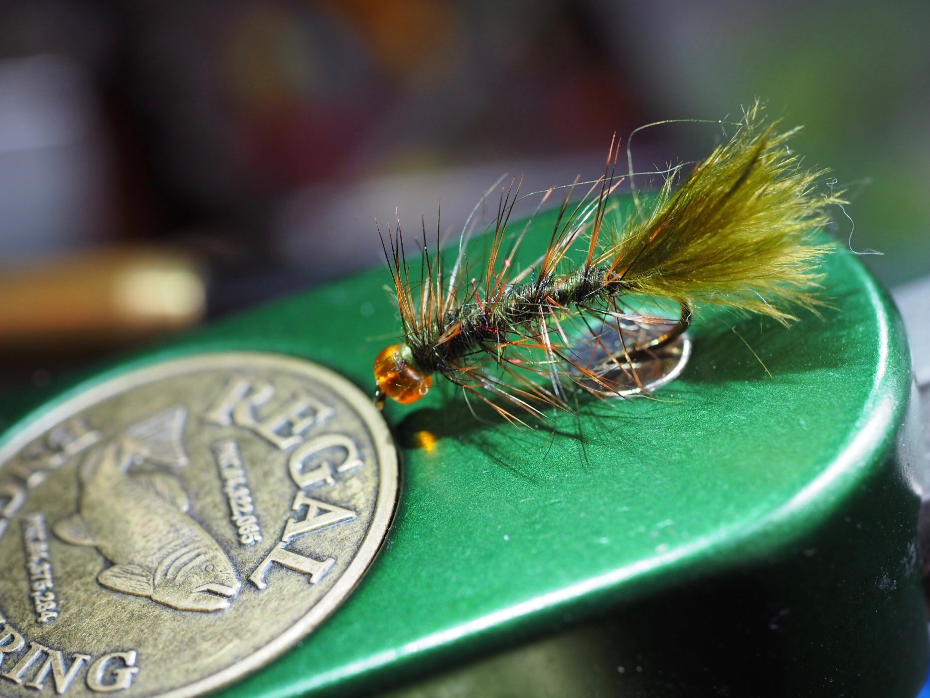 A scaled down Wooly Bugger is a great option if you want to fish a streamer.