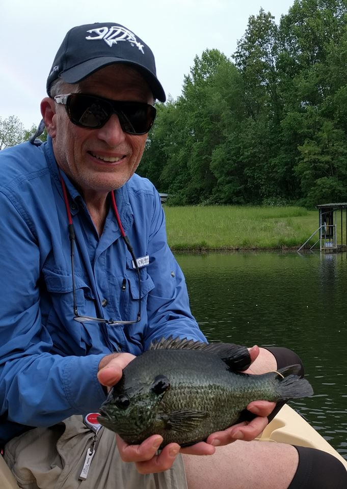 This 11.25 inch bluegill readily took the Green Tail Caddis last year along with a whole bunch of his smaller brothers and sisters.