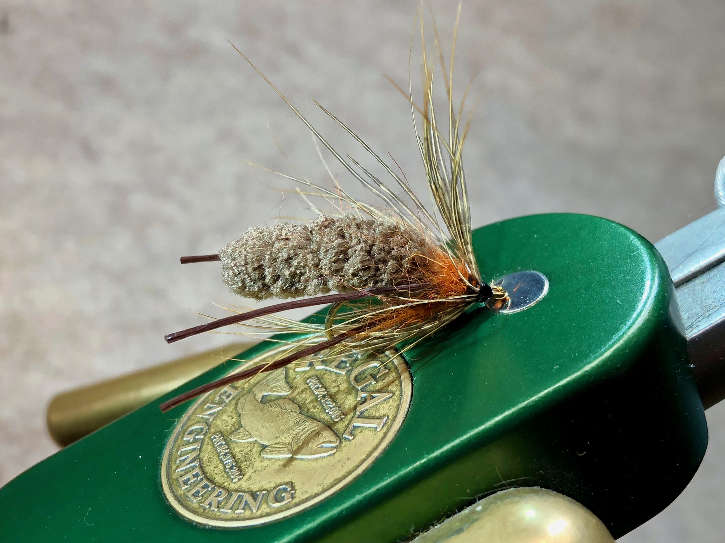 The Creature is a mouthful for all but the largest panfish! It is one of my go to subsurface flies for big bluegills!