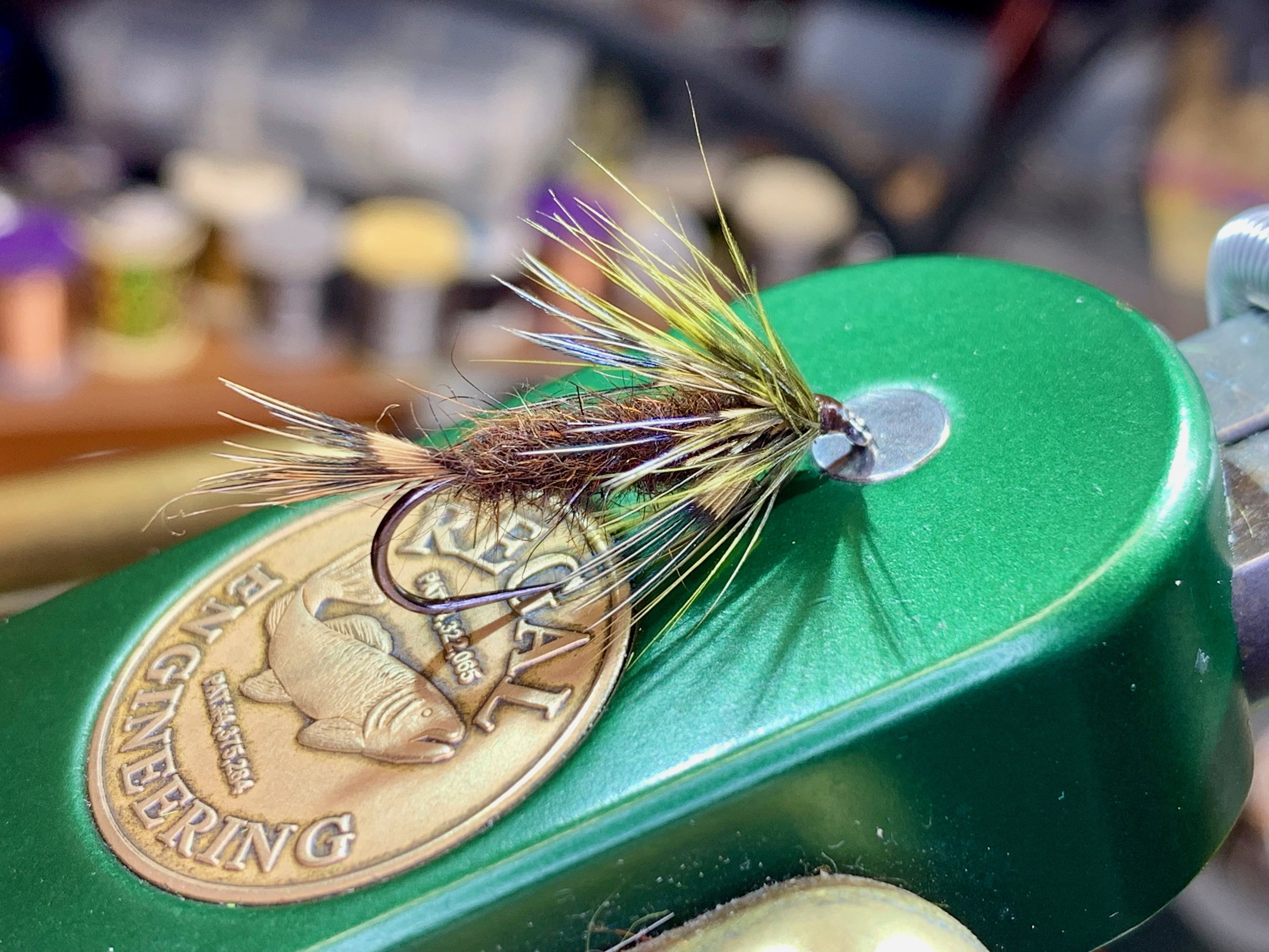 Ward Bean's Cockaroo is mix between a nymph and and a wet fly and can be fished either way. Tied on a size six hook it is a great searching pattern for large panfish.