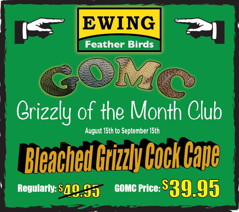 The August/September Special is a fantastic Bleached Grizzly Cape