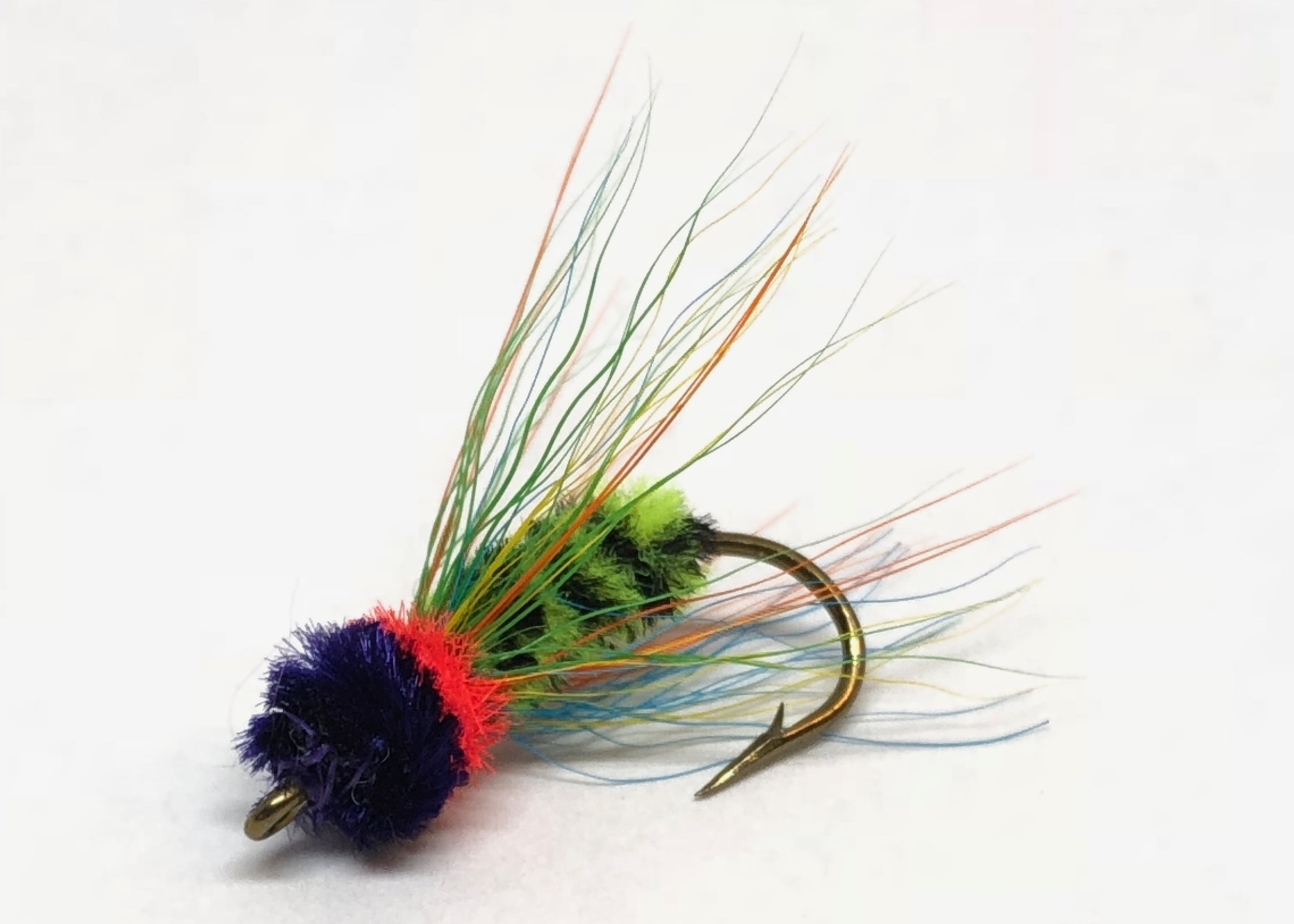 """My """"Pumpkinseed"""" variation of the James Wood Bucktail is another big panfish favorite!"""