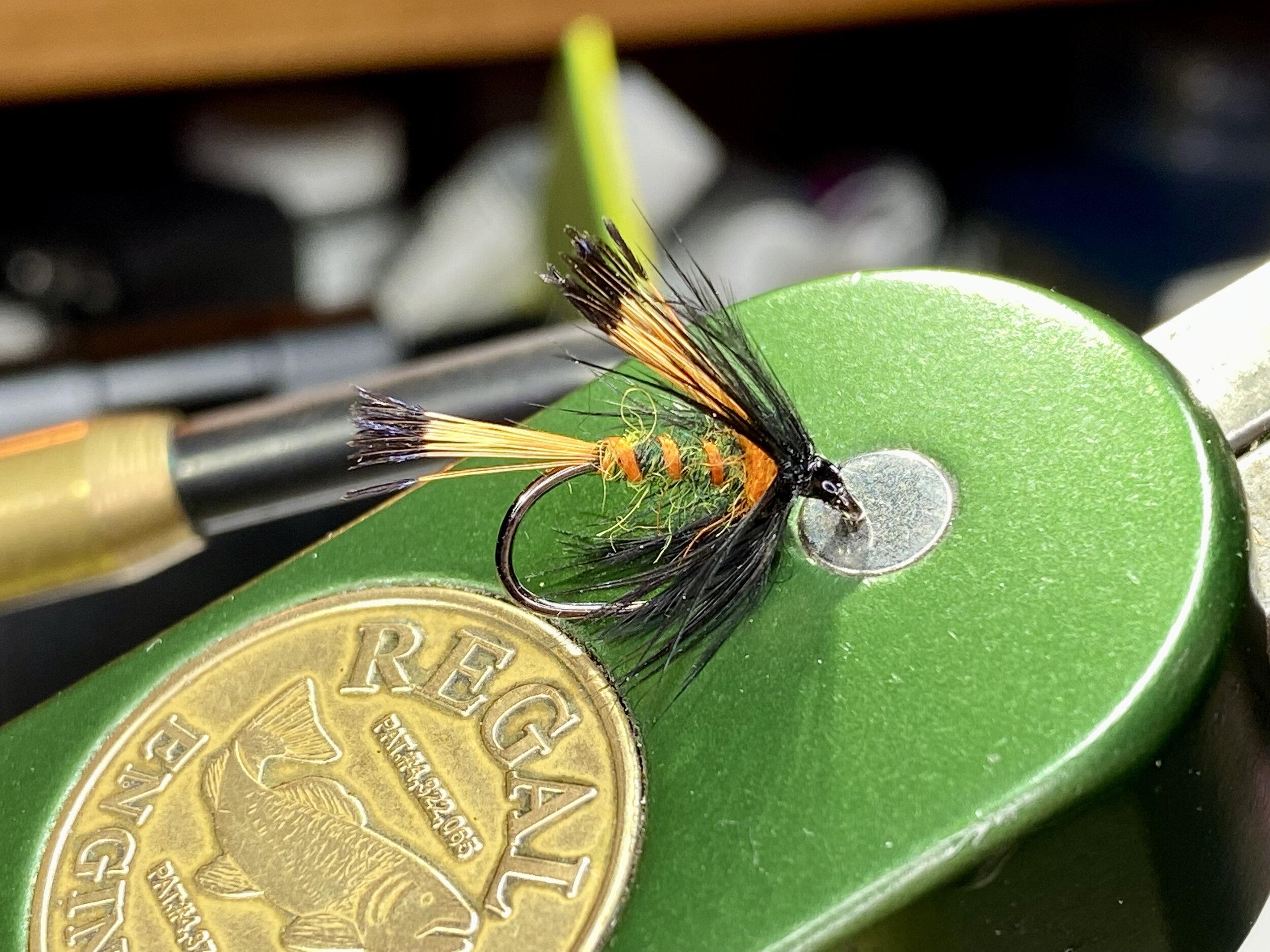 A Panfish Pazooka tied a size 12 Firehole 633 wet fly hook.