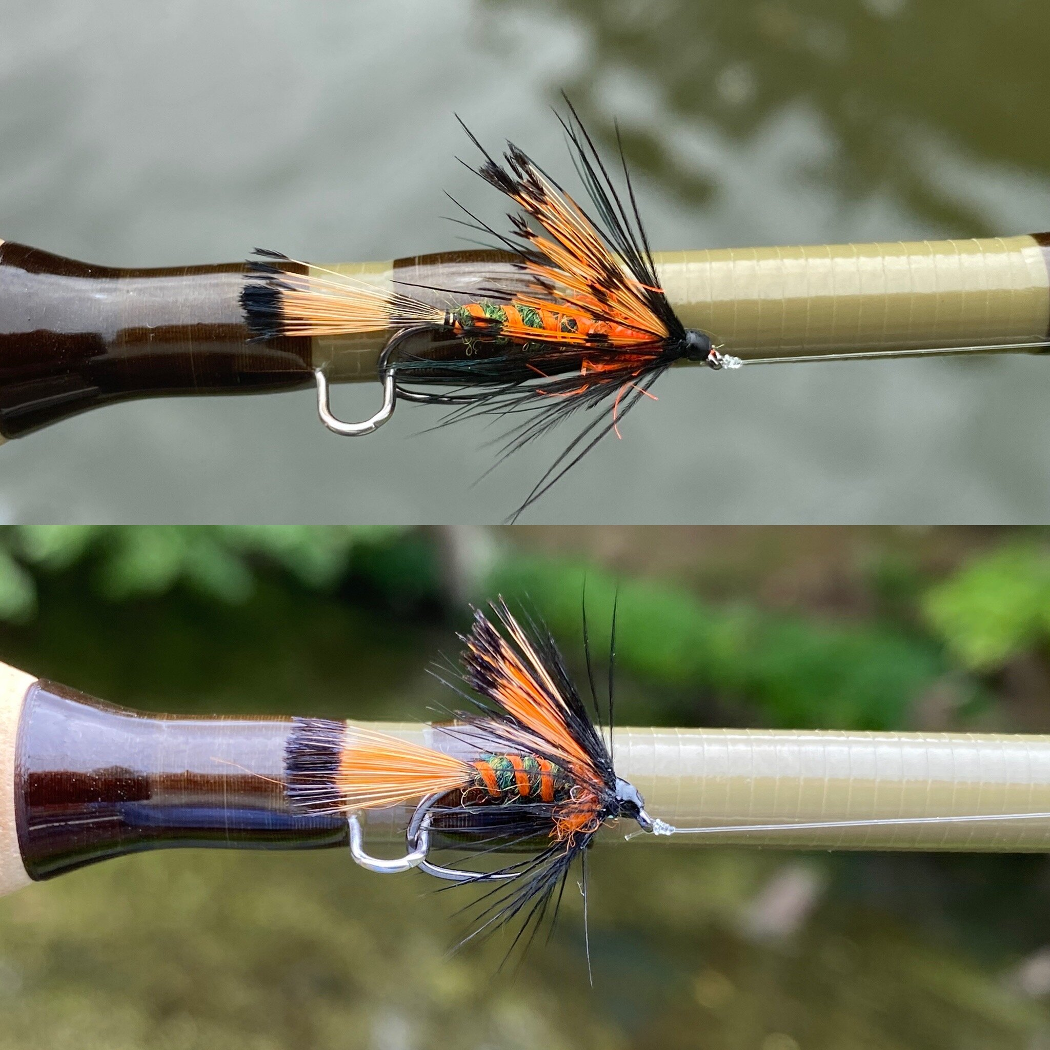 The fly was equally effective tied on a long shank streamer hook or as a short shanked wet fly.