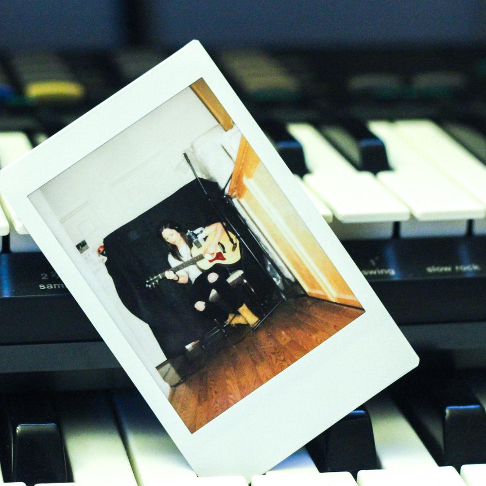 Polaroid bc polaroid. Acoustics in the hallway.