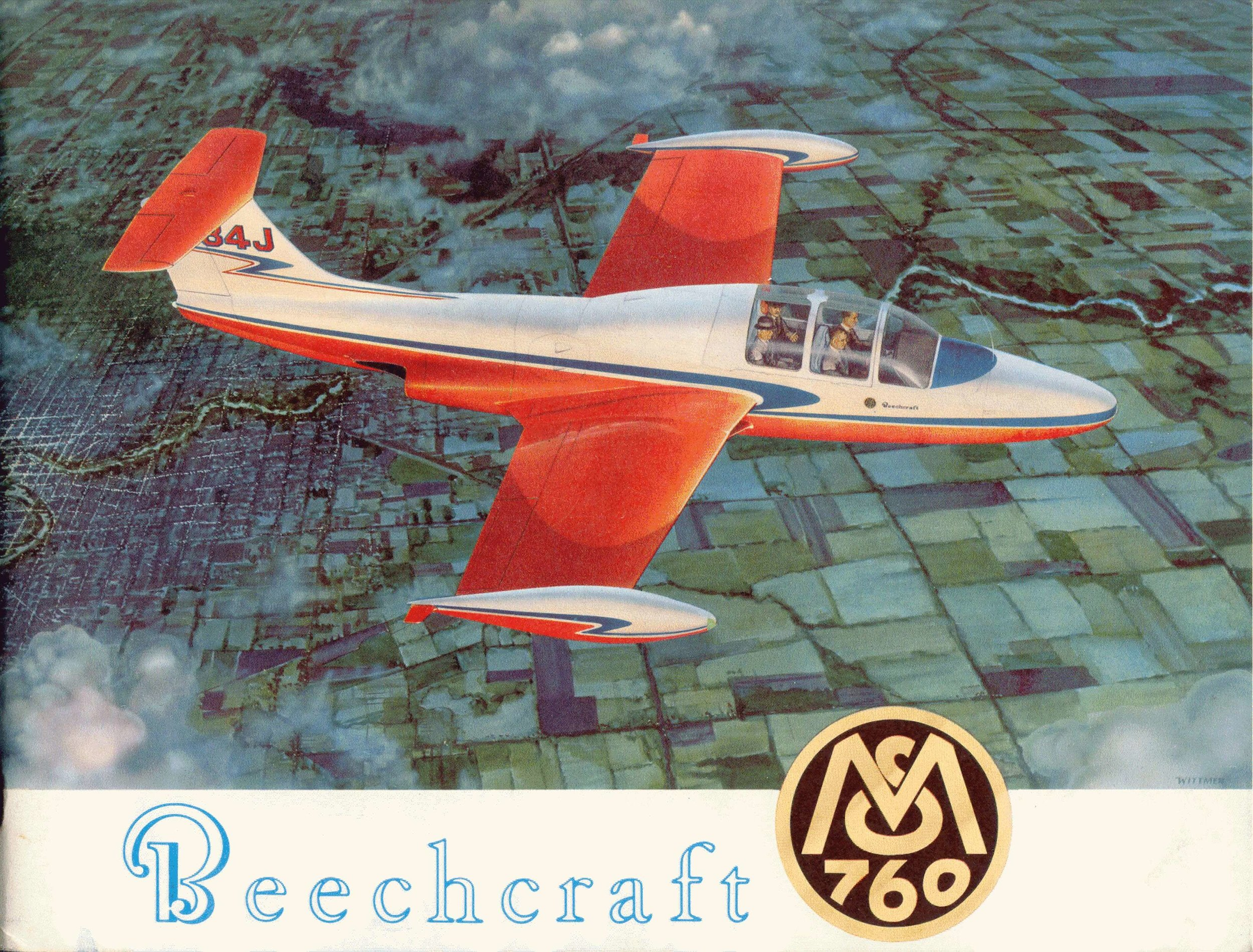 N84J in a Beechcraft ad.