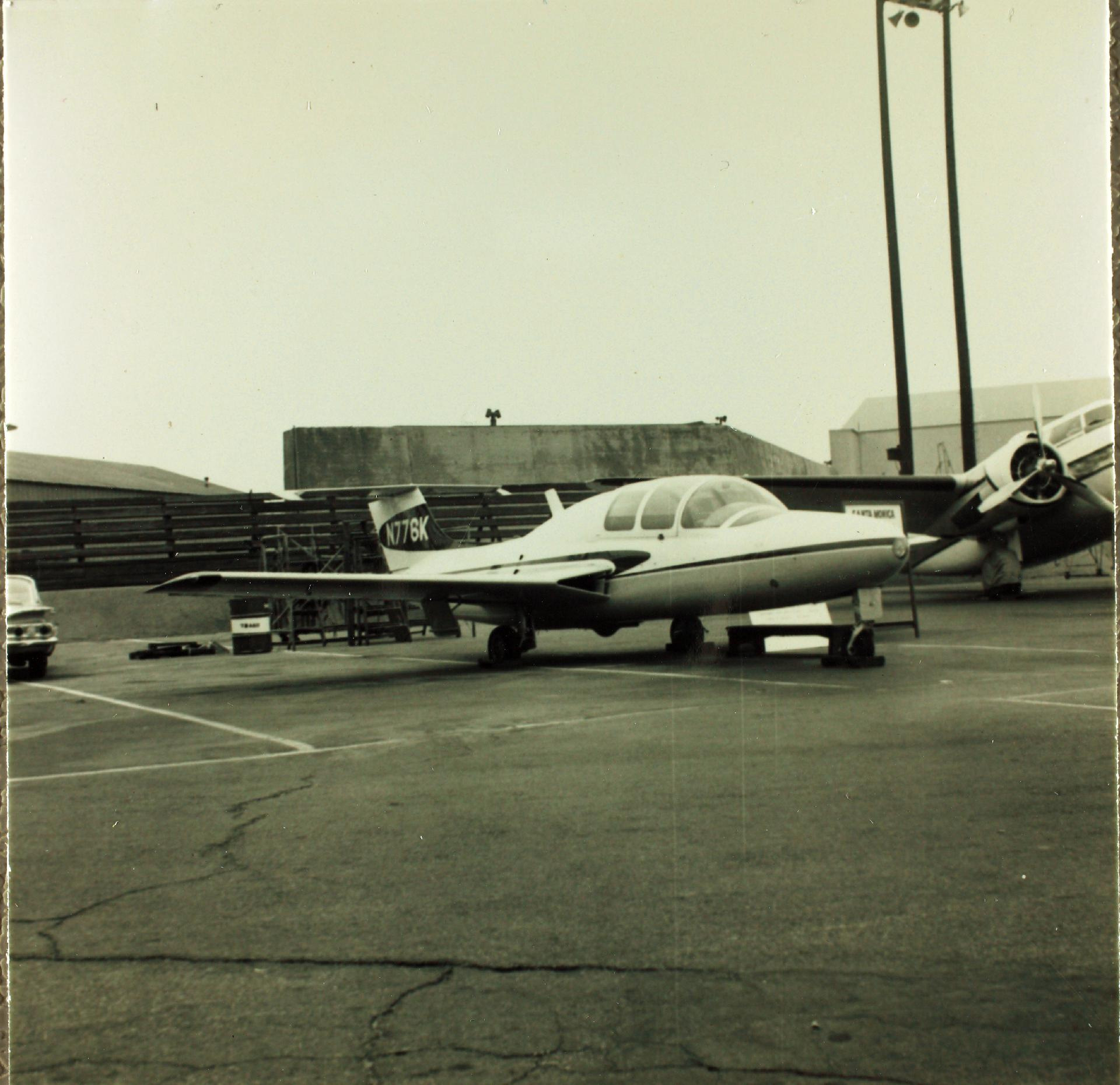 At the Santa Monica Airport (confirmed by the sign over N776K's port wing). From San Diego Air and Space Museum Archives.