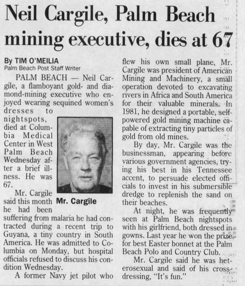 Palm Beach Post, August 3, 1995.