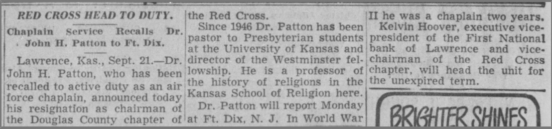From the Kansas City Times, September 22, 1950.