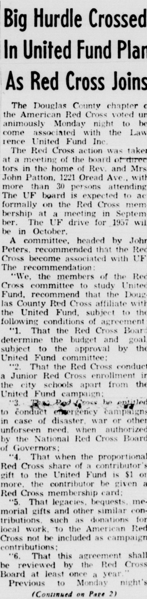 From the Lawrence Daily Journal World, August 7, 1956.