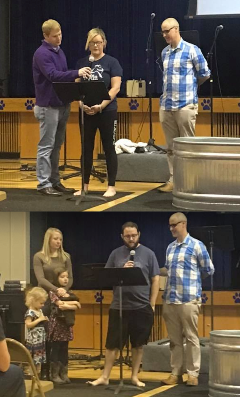 We are thankful that we had 4 more adults join our church totaling 47 members.