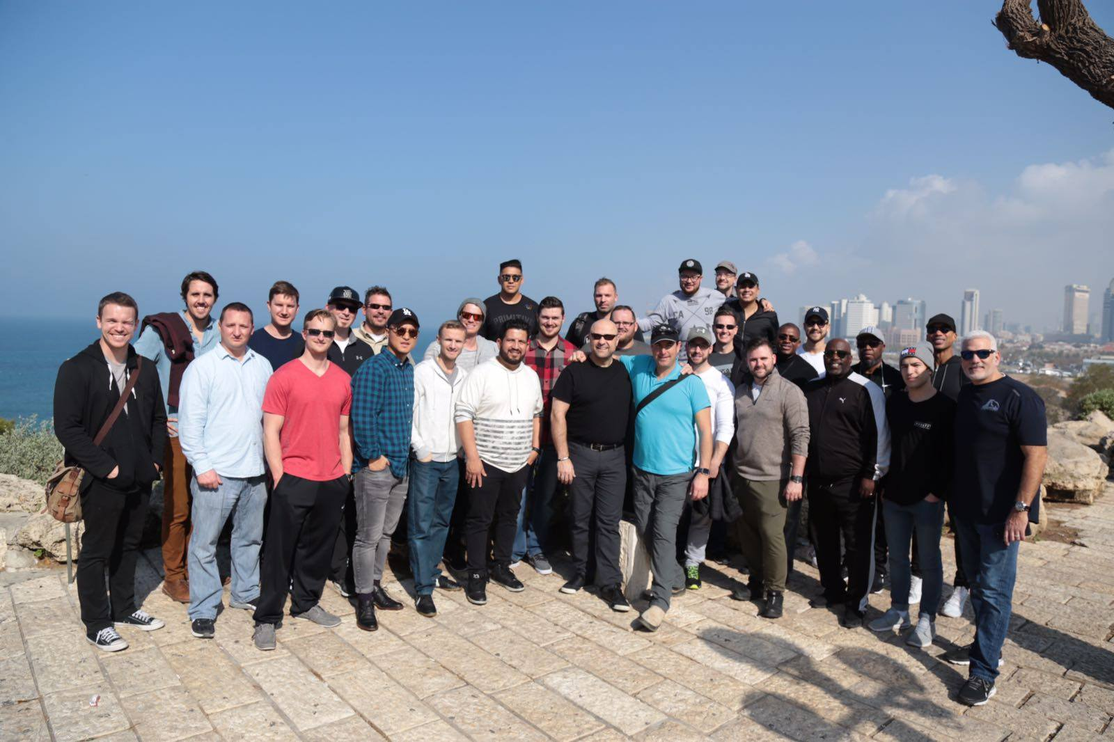 The group overlooking Tel Aviv and the port of Jaffa.  #visitisrael