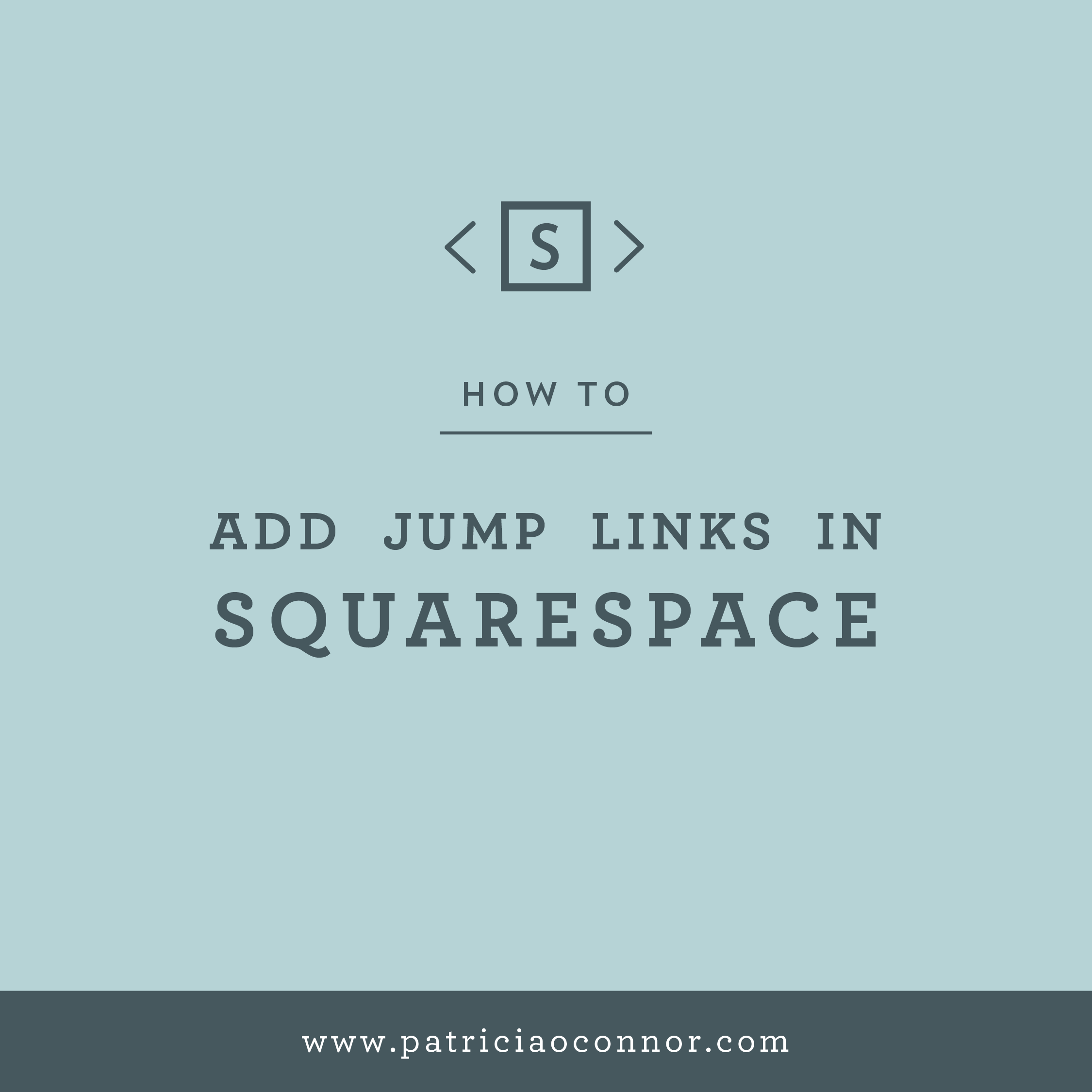 How to Make Jump Links in Squarespace Patricia & Co.