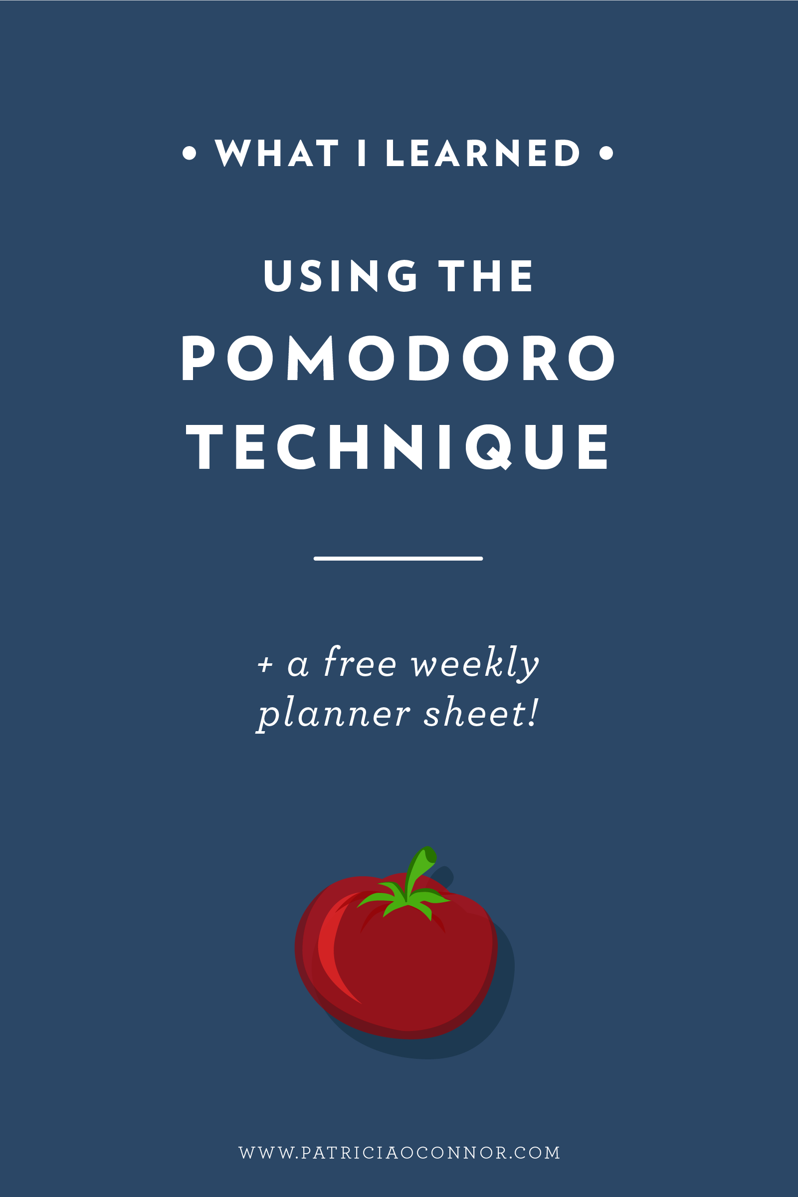 What I learned using the Pomodoro Technique for a week! Read the full post and start maximizing your workday!