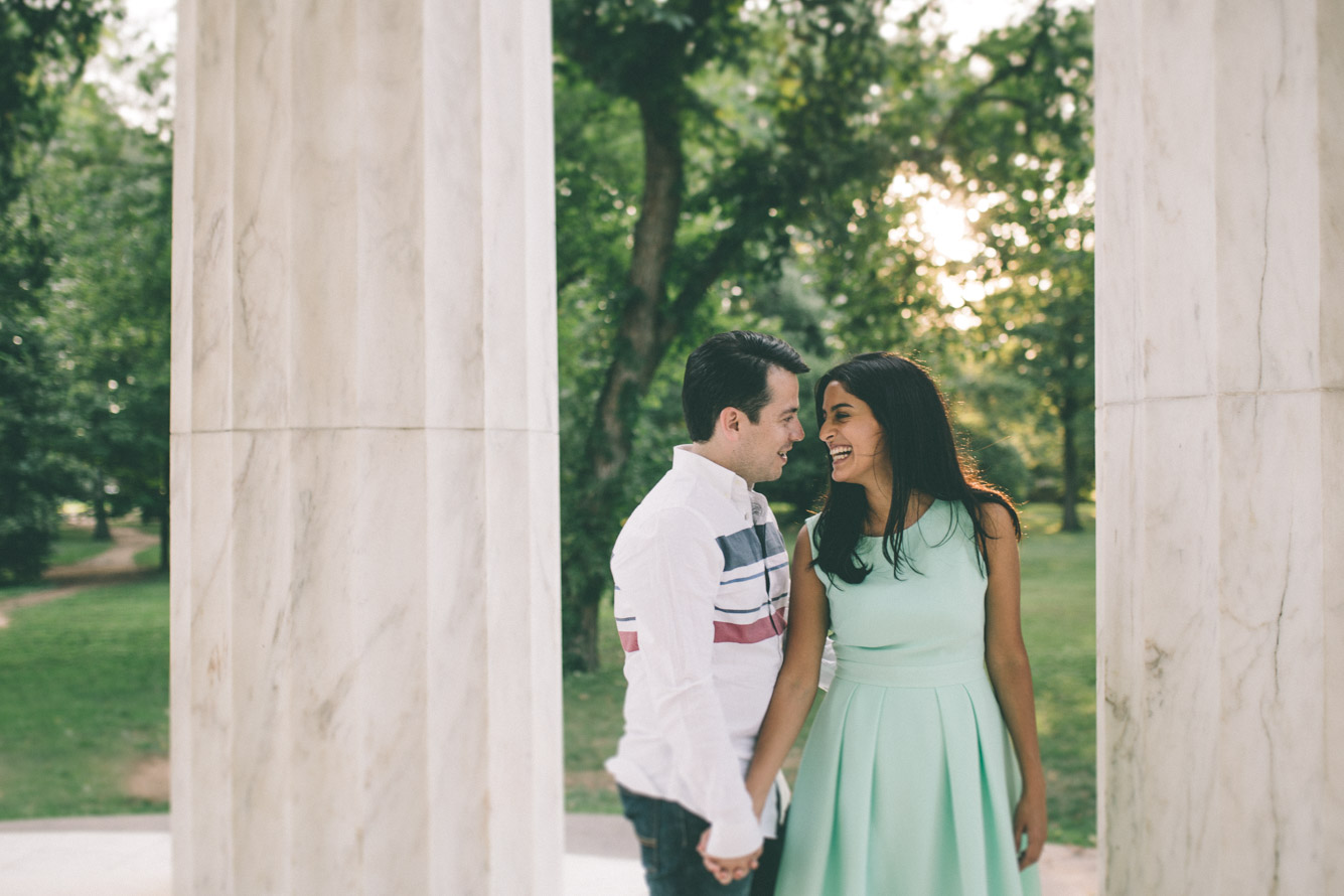 engagement session washington dc mall dc war memorial sunset.jpg
