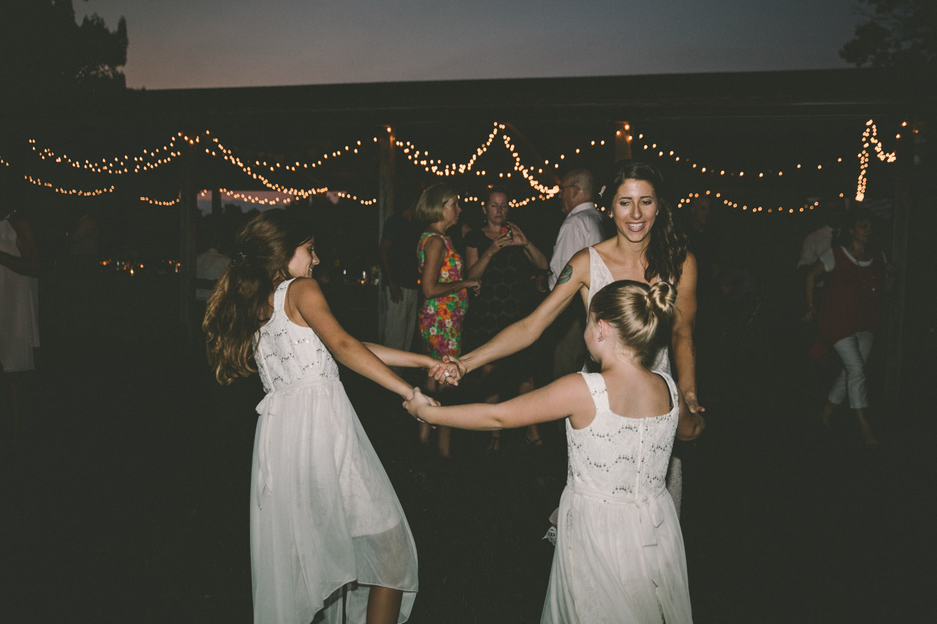 rustic barefoot dancing wedding steppingstone museum flower girls.jpg