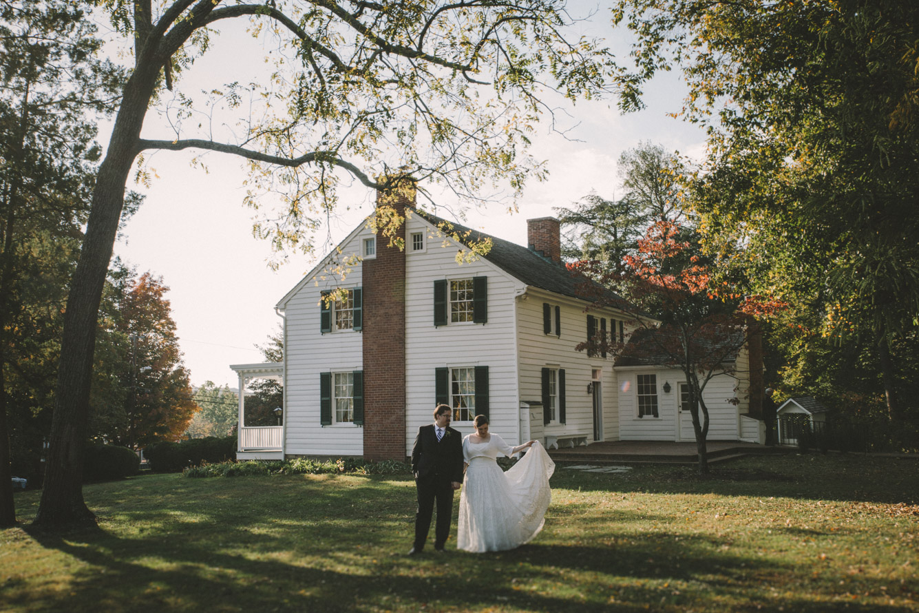 cherry hill farmhouse bride and groom bride dress.jpg