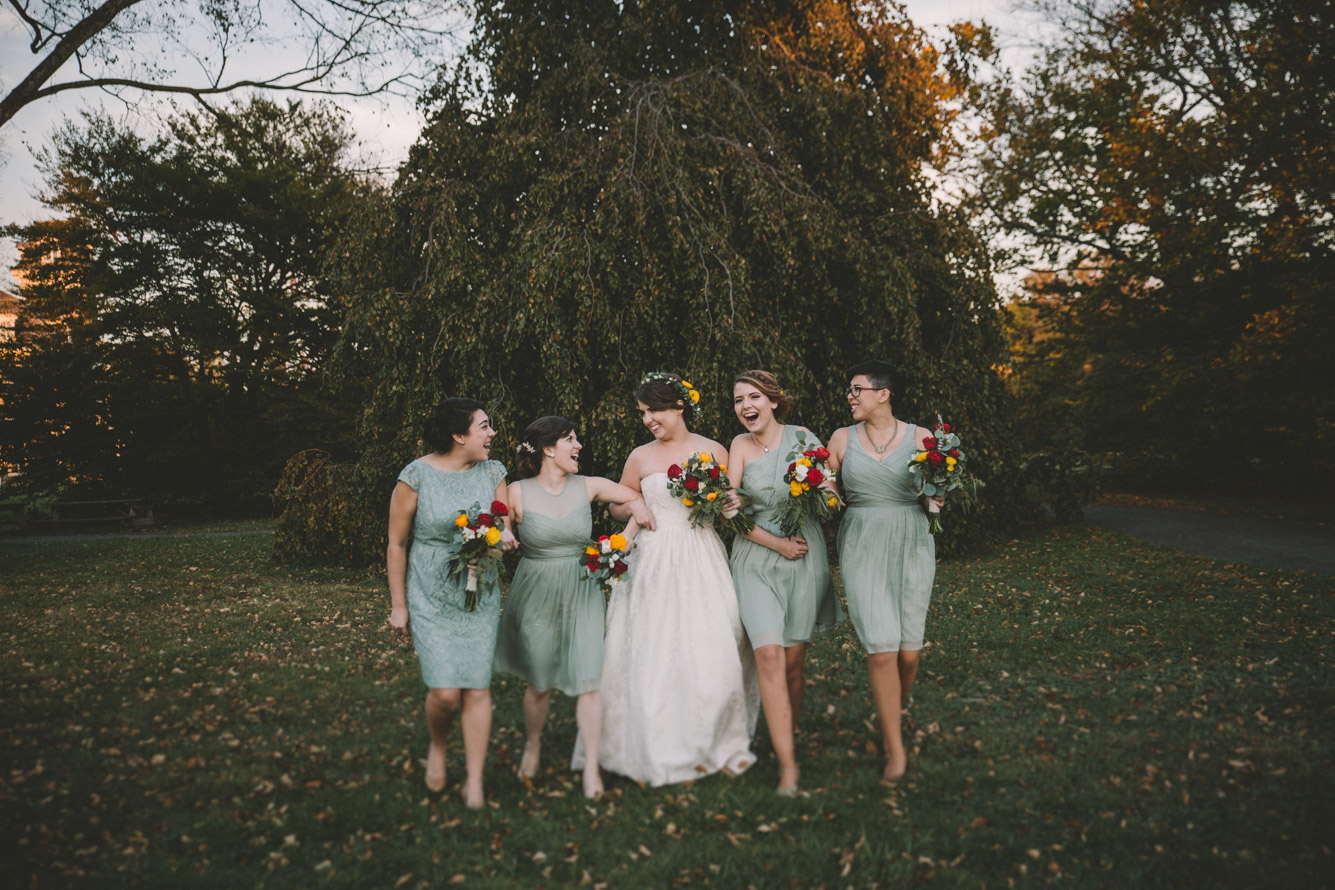 cylburn arboretum baltimore wedding bride and bridesmaids.jpg
