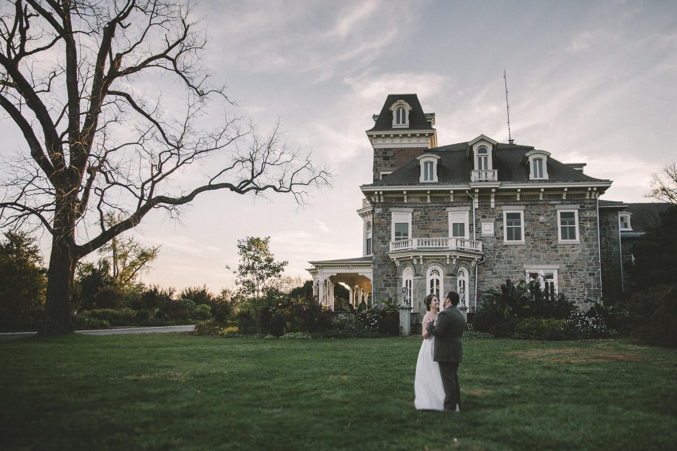cylburn arboretum baltimore wedding bride and groom old mansion.jpg