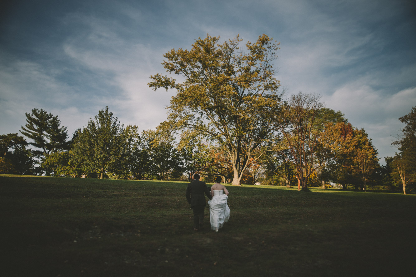 cylburn arboretum baltimore wedding bride and groom walking.jpg