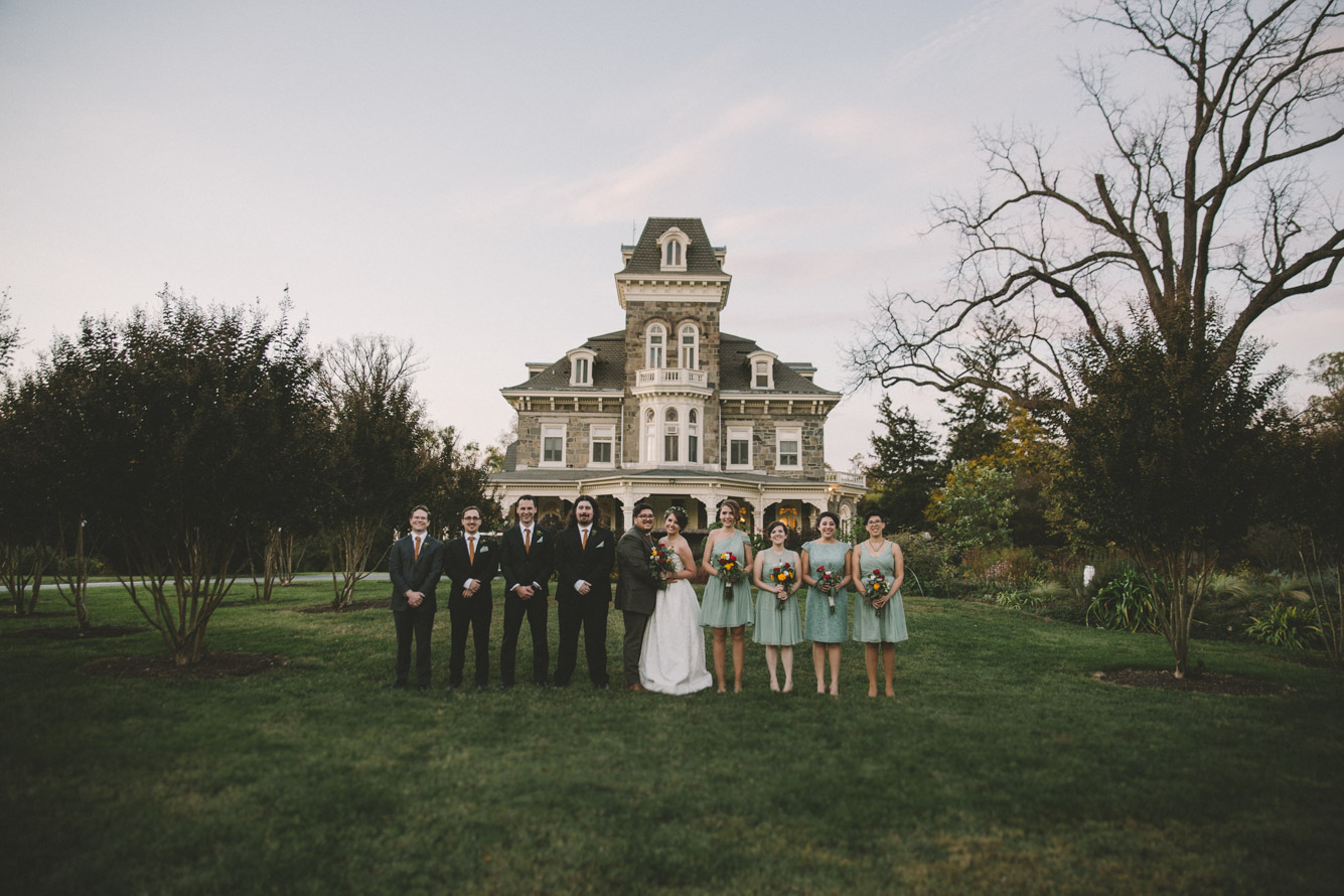 cylburn arboretum baltimore wedding combined bridal party.jpg