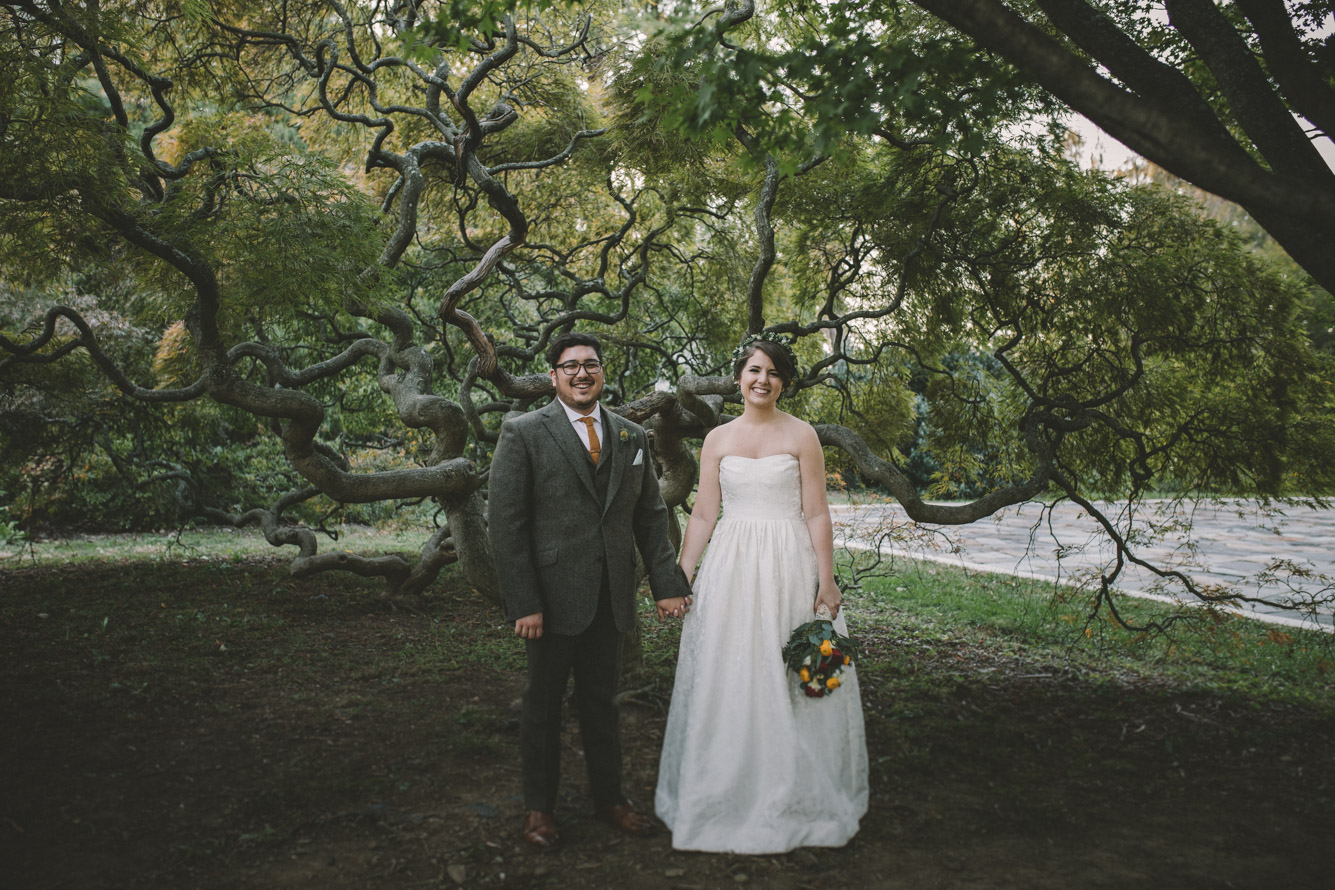 cylburn arboretum baltimore wedding cool tree bride and groom.jpg
