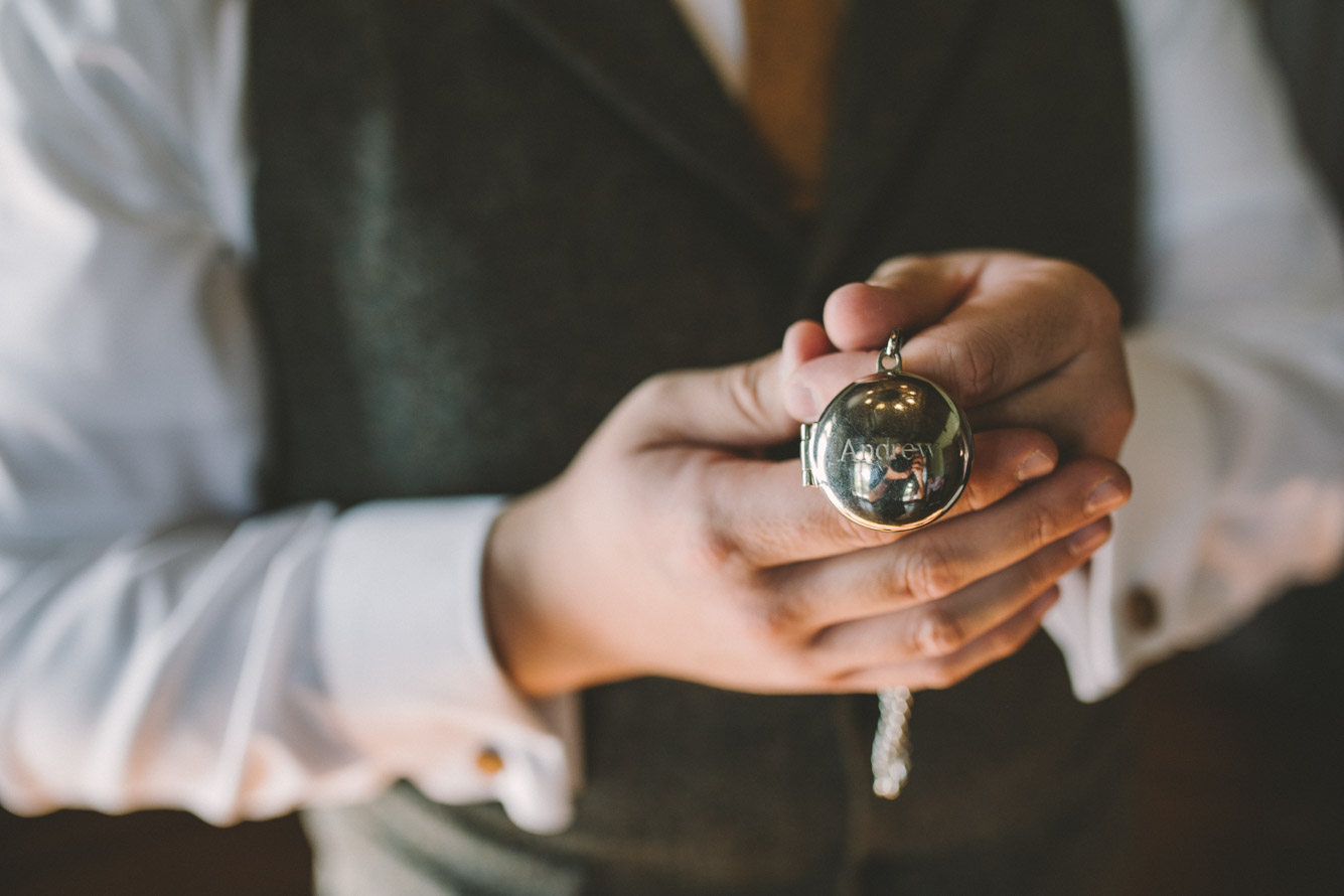 cylburn arboretum baltimore wedding groom pocket watch.jpg