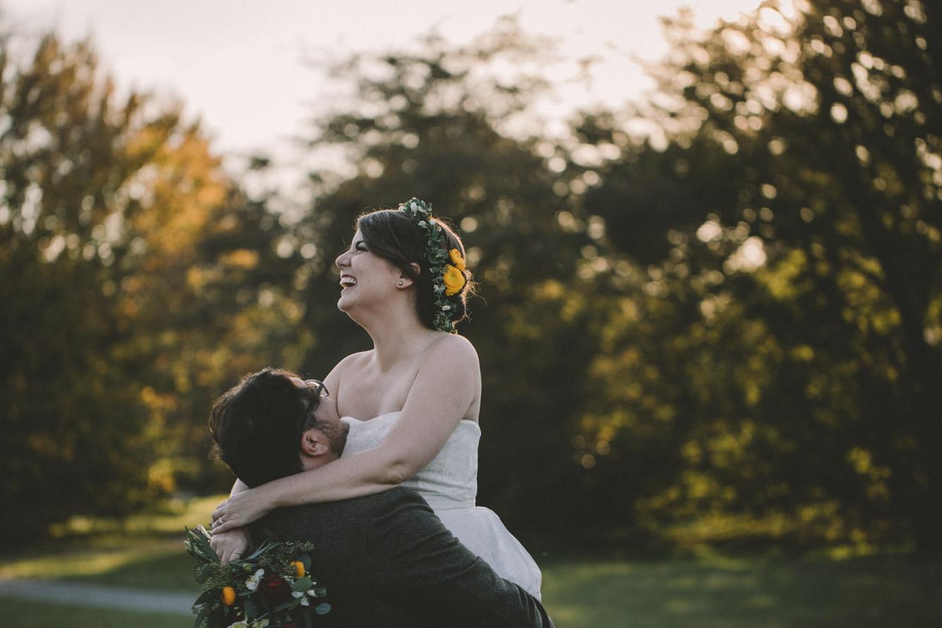 cylburn arboretum baltimore wedding happy bride sunset.jpg