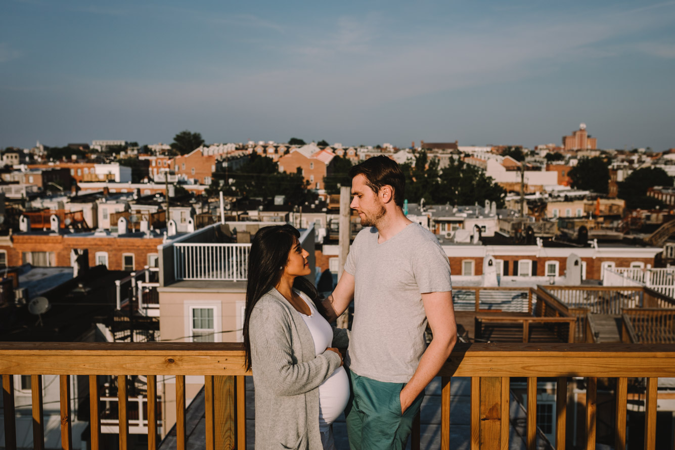 barbara o photography maternity in home session baltimore rooftop photographer.jpg