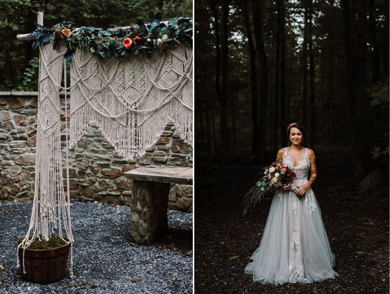 barbara O photography md dc camp wedding photographer macrame backdrop.jpg