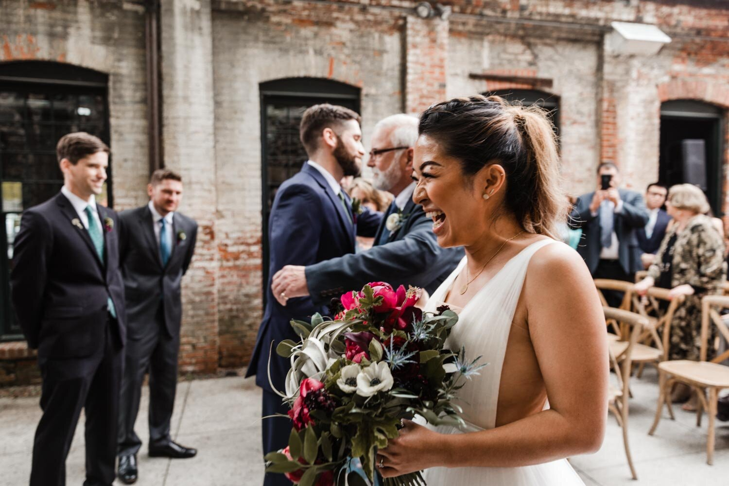 Mt Washington Mill Dye House industrial Baltimore wedding by Barbara O Photography-182.jpg