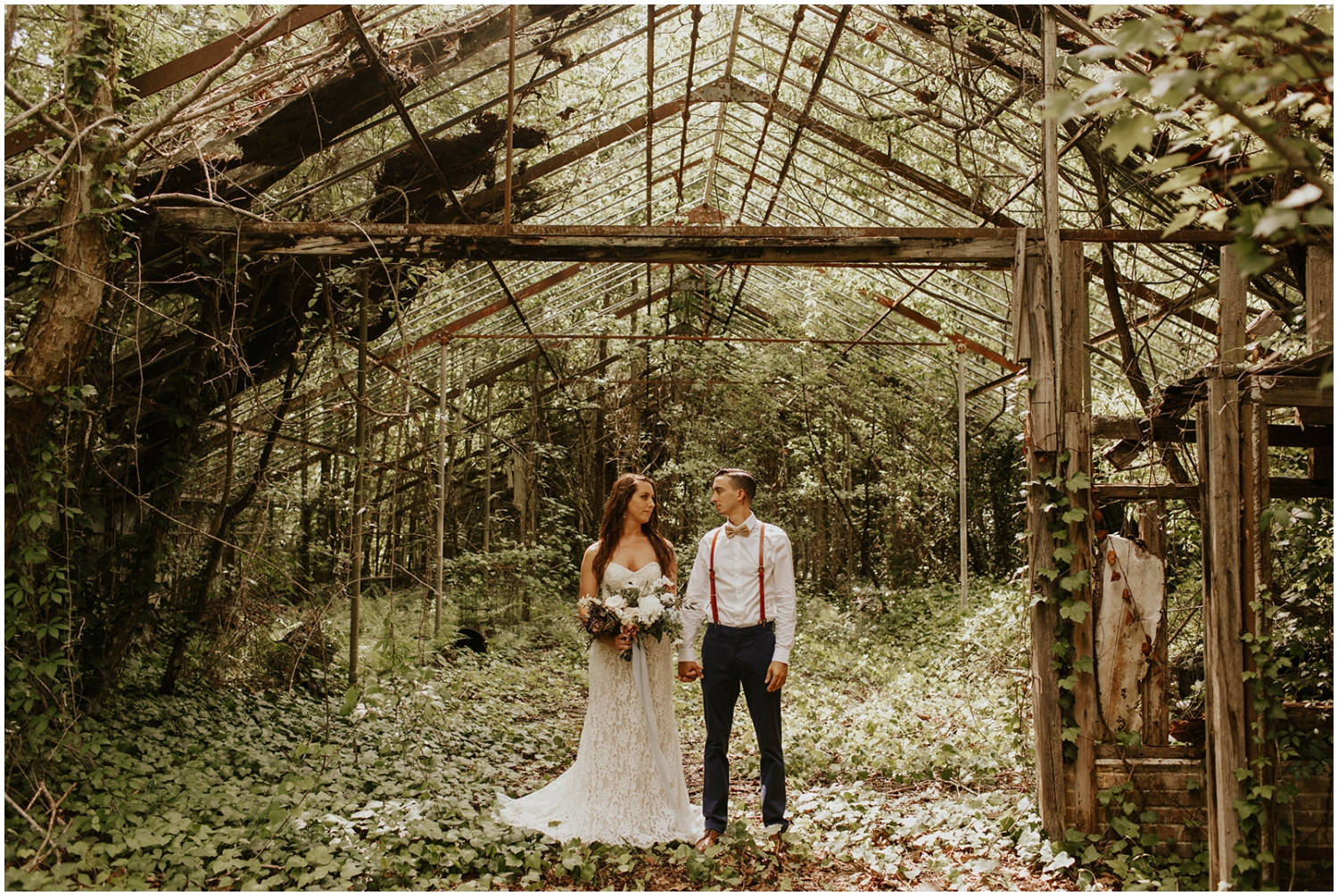 bride and groom at The Glen Venue