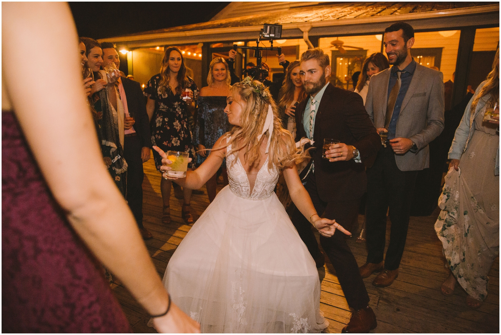 Wedding guests dancing at The Glen Venue