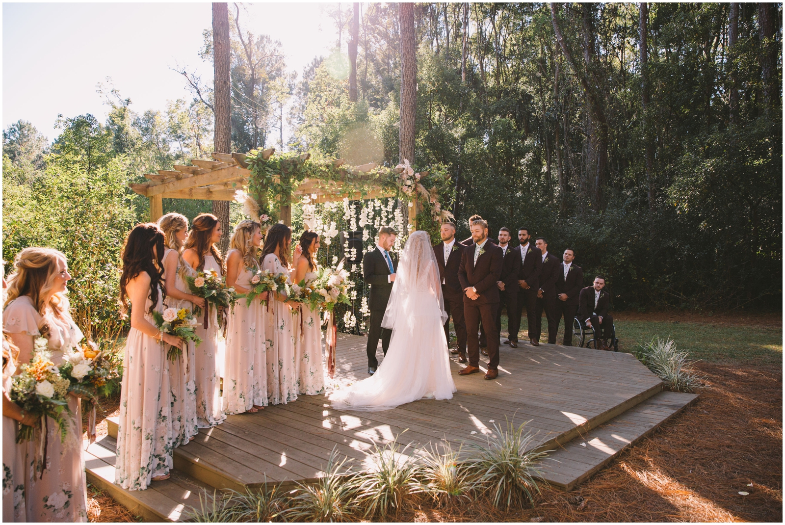 Outdoor wedding ceremony at The Glen Venue