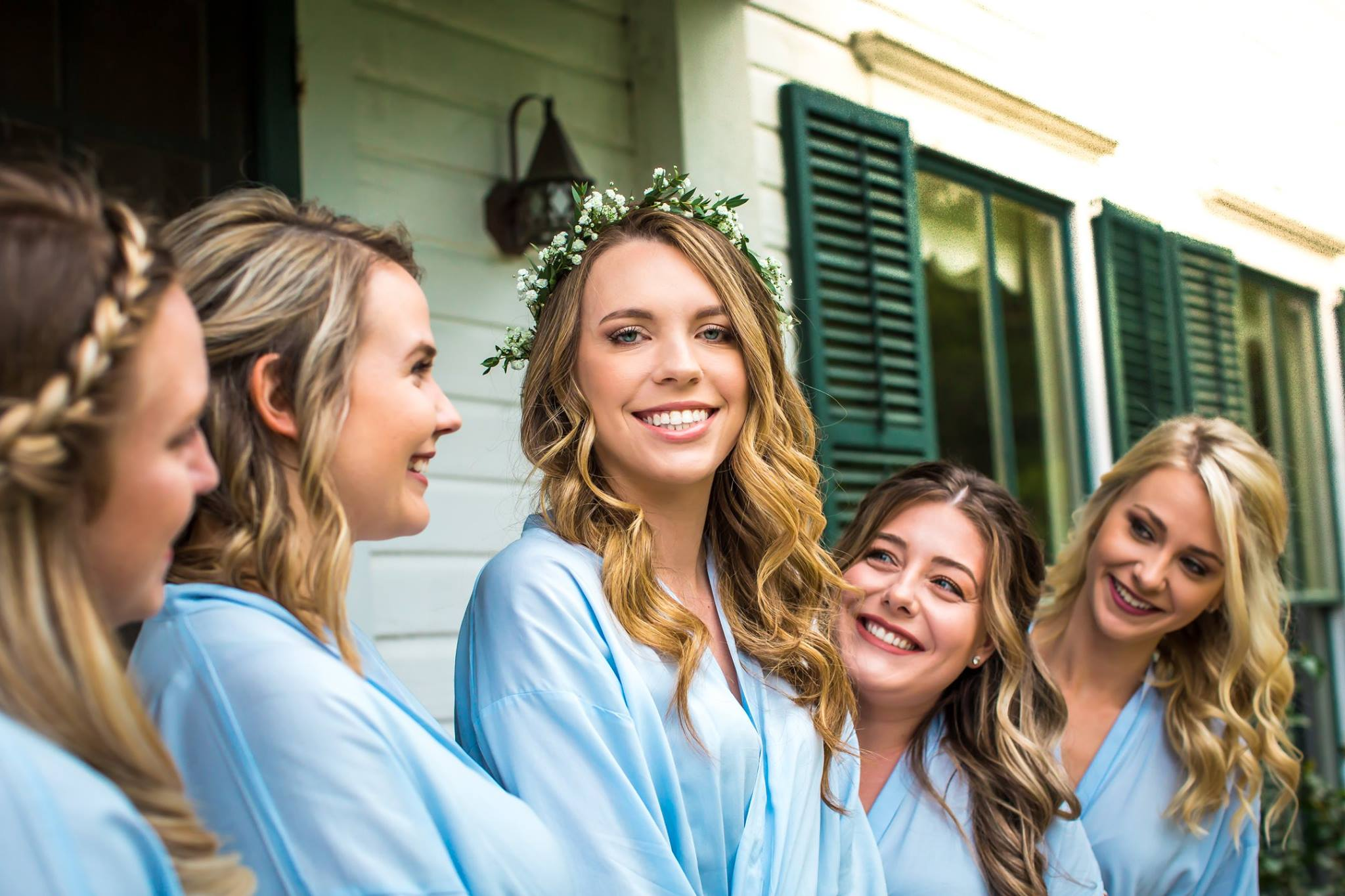 bride and her bridesmaids before her Jacksonville Wedding
