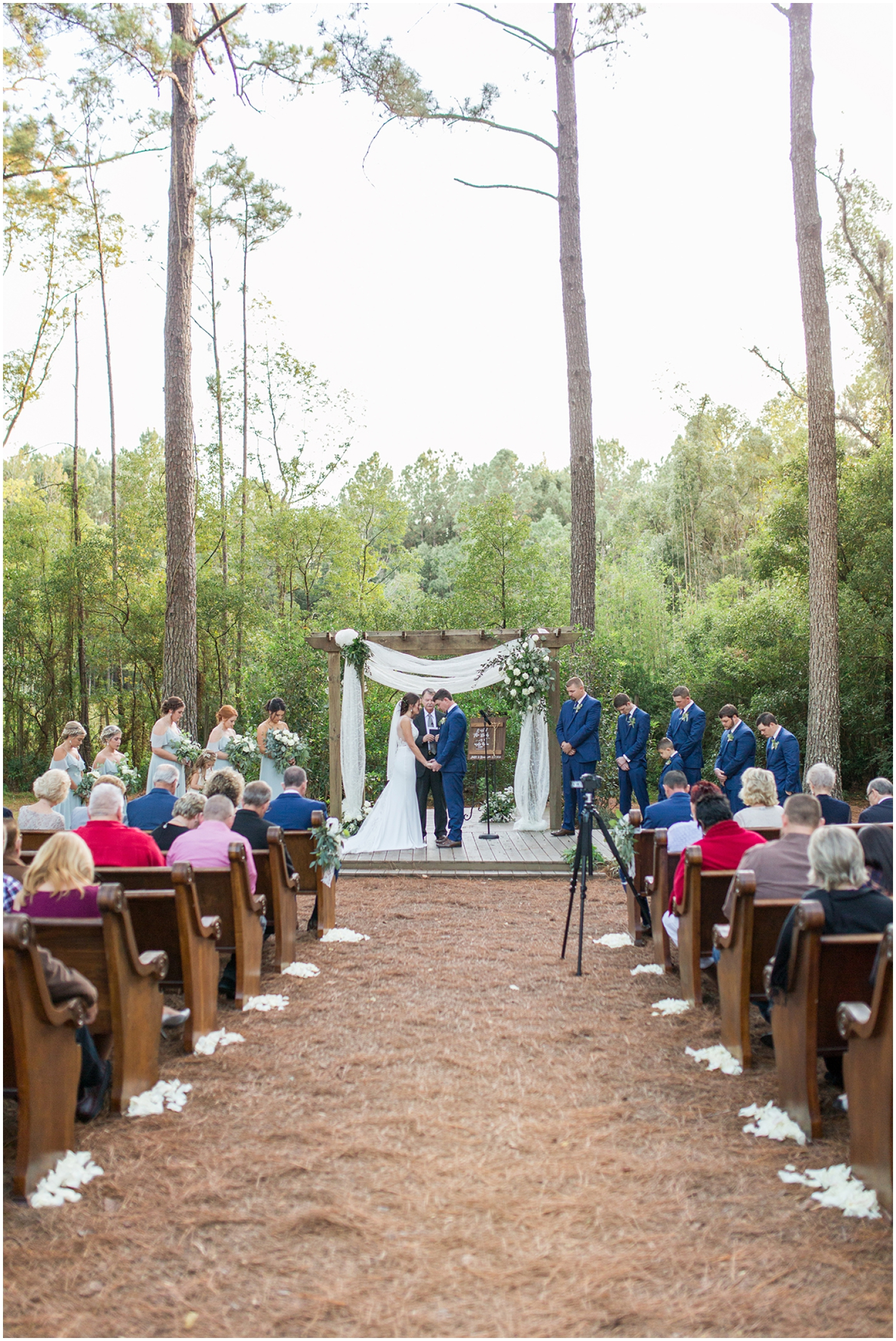 outdoor wedding ceremony in Northeast Florida