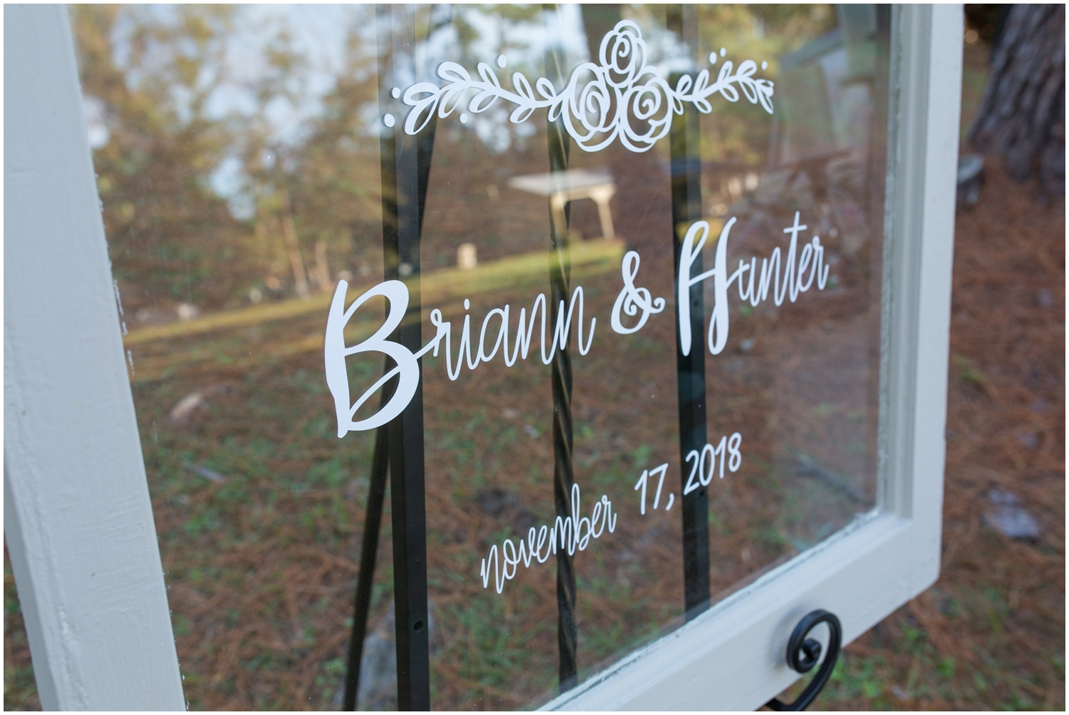 Wedding sign for outdoor wedding