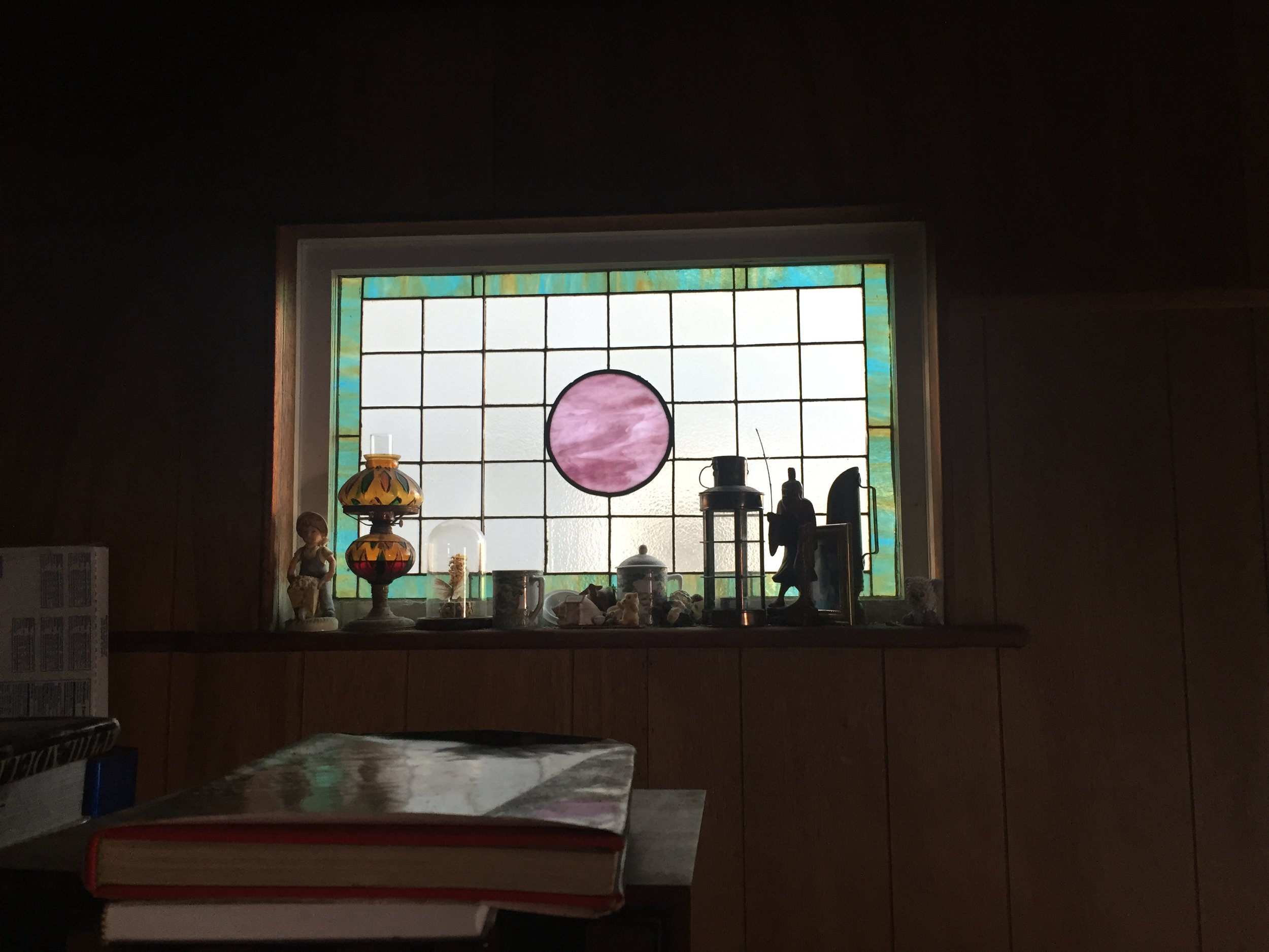 Sadly I did not win the offer to acquire this house with original stained glass.