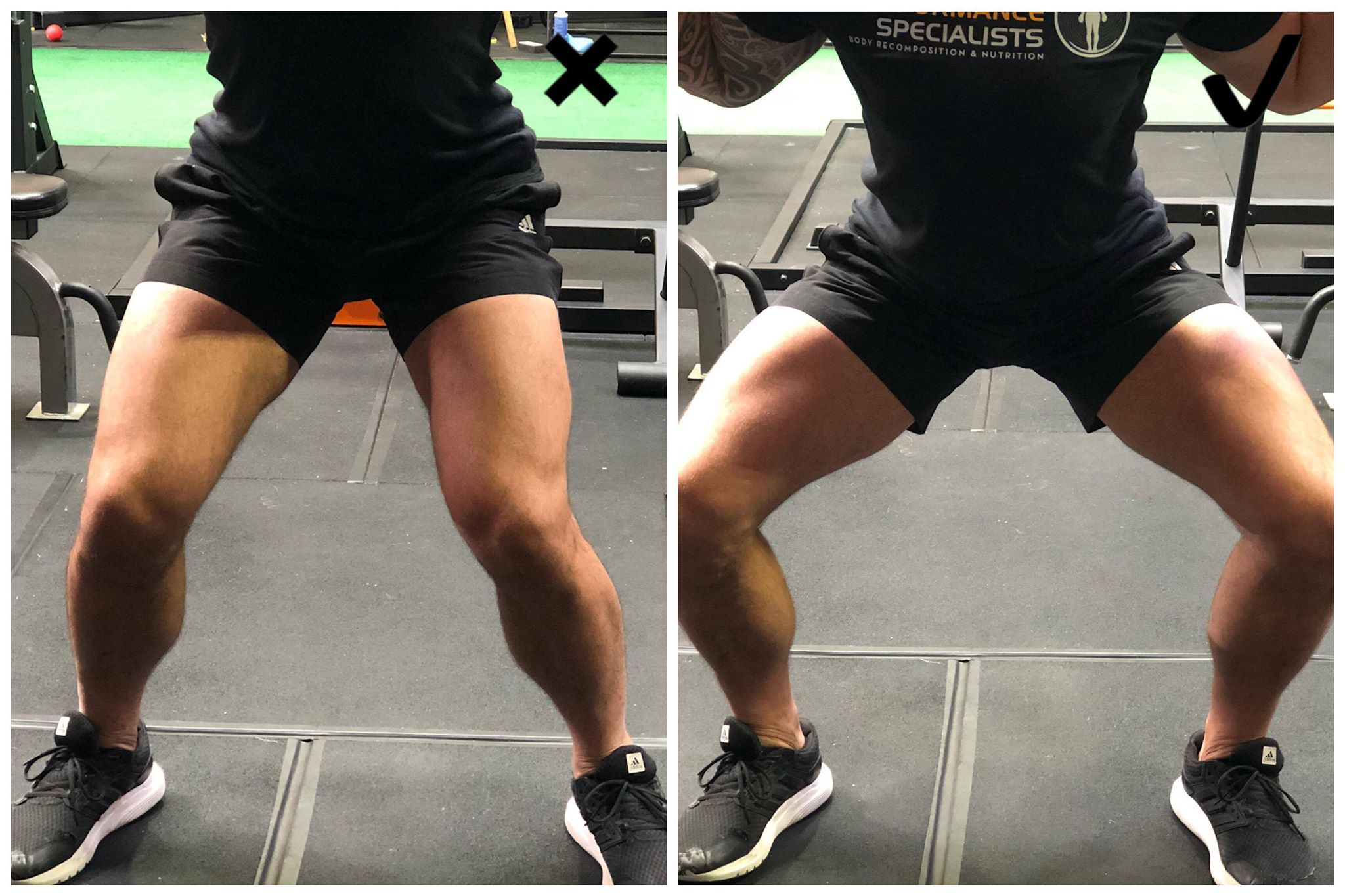 When your knees cave in, you lose all power through the hips & glutes...