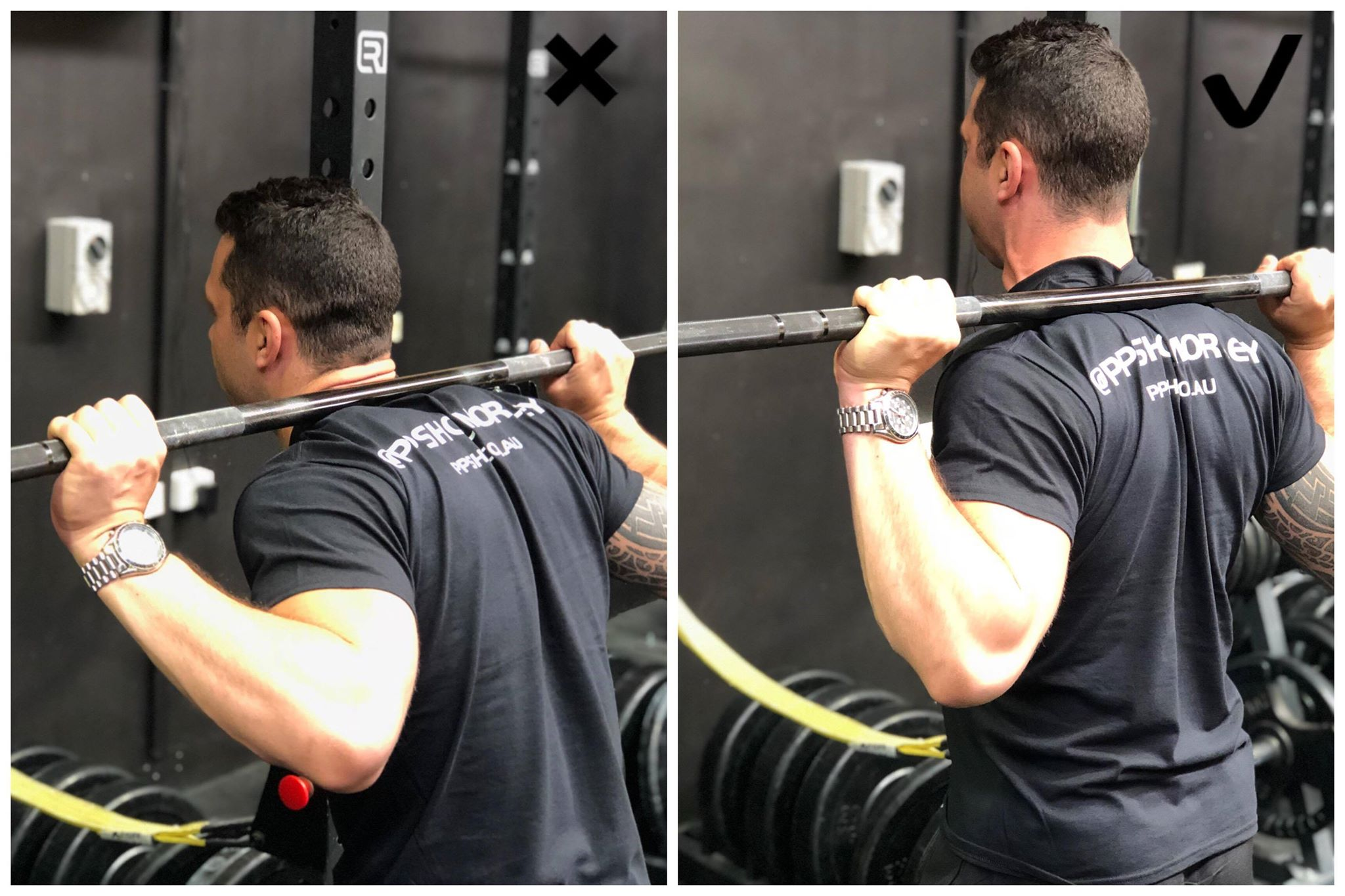 A lack of tightness in the upper-back puts added stress on your neck and lower-back...