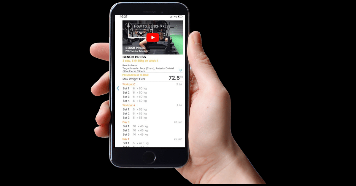 Our training app makes it easy for clients to track progression in the Gym