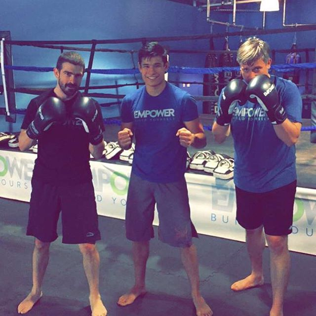 Shout out to the EMPOWER BEASTS of the day EVAN AND DAVID putting in extra work in with coach baby face Johnny @jonster140
